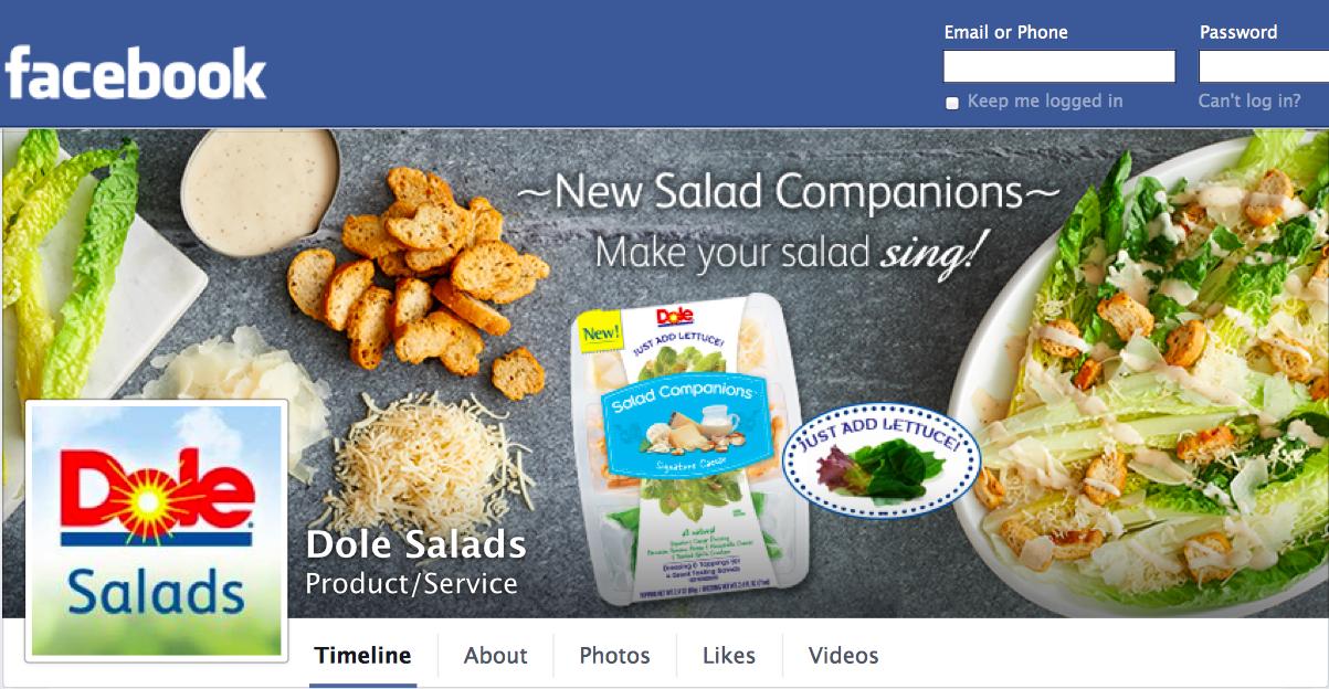 dole Facebook Cover - salad companions