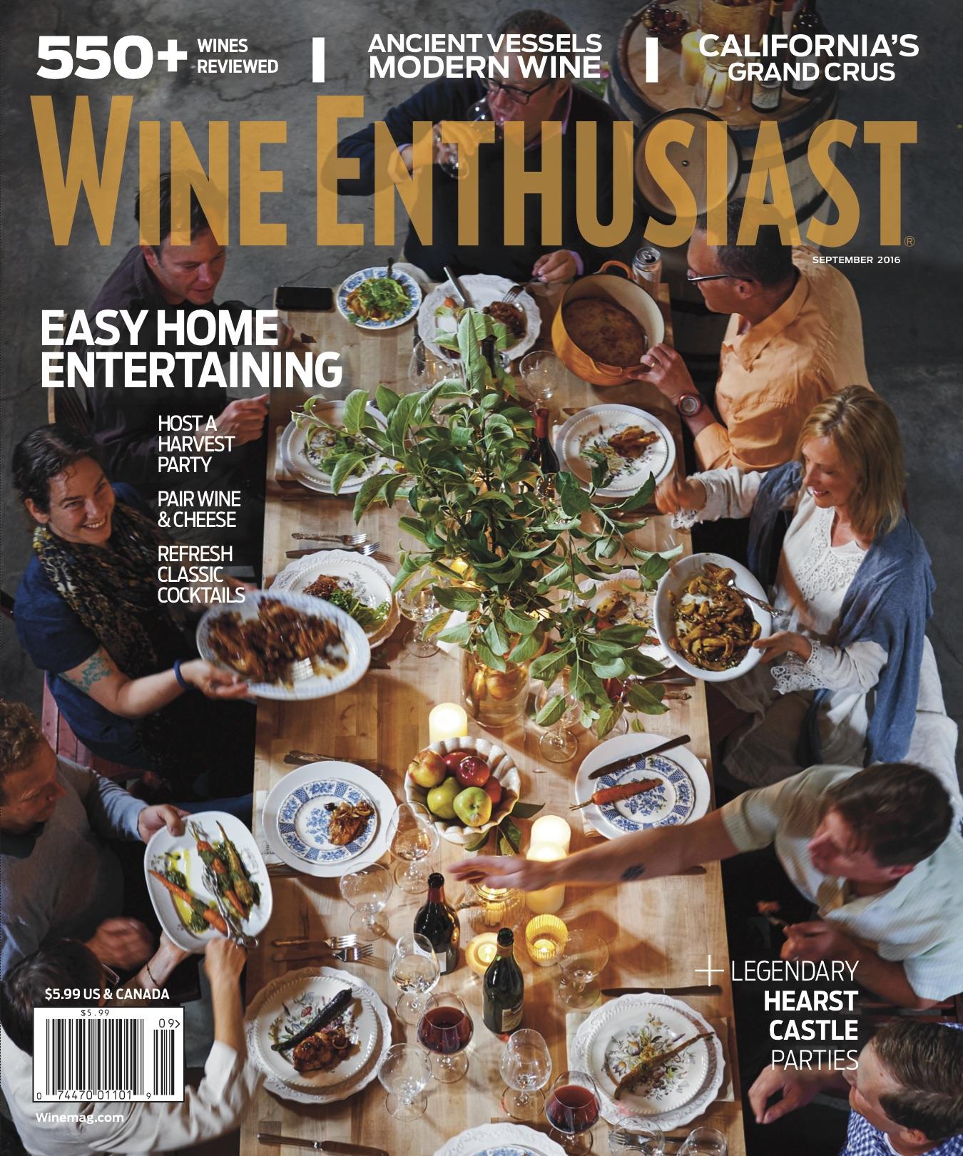 Wine Enthusiast Sept. 2016