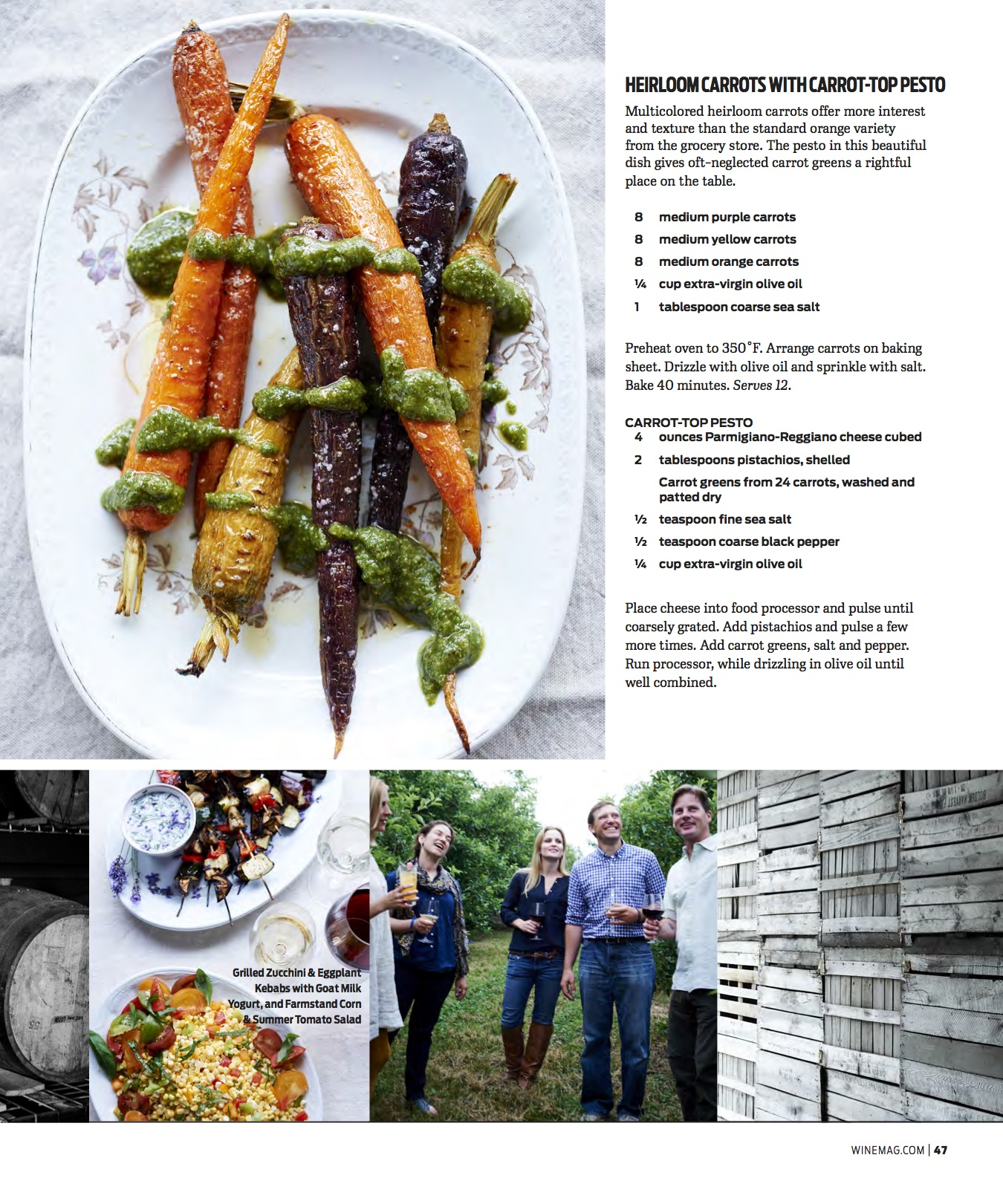 Wine Enthusiast Sept 2016 Roasted Carrots