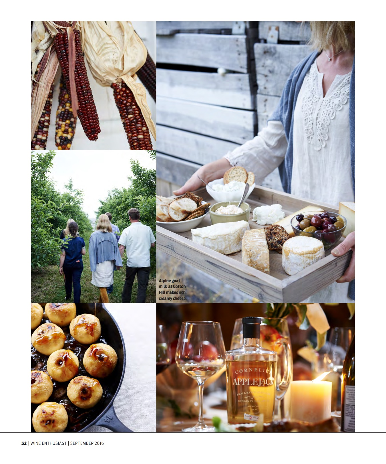 Wine Enthusiast Sept 2016 Baked Apples & Cheese