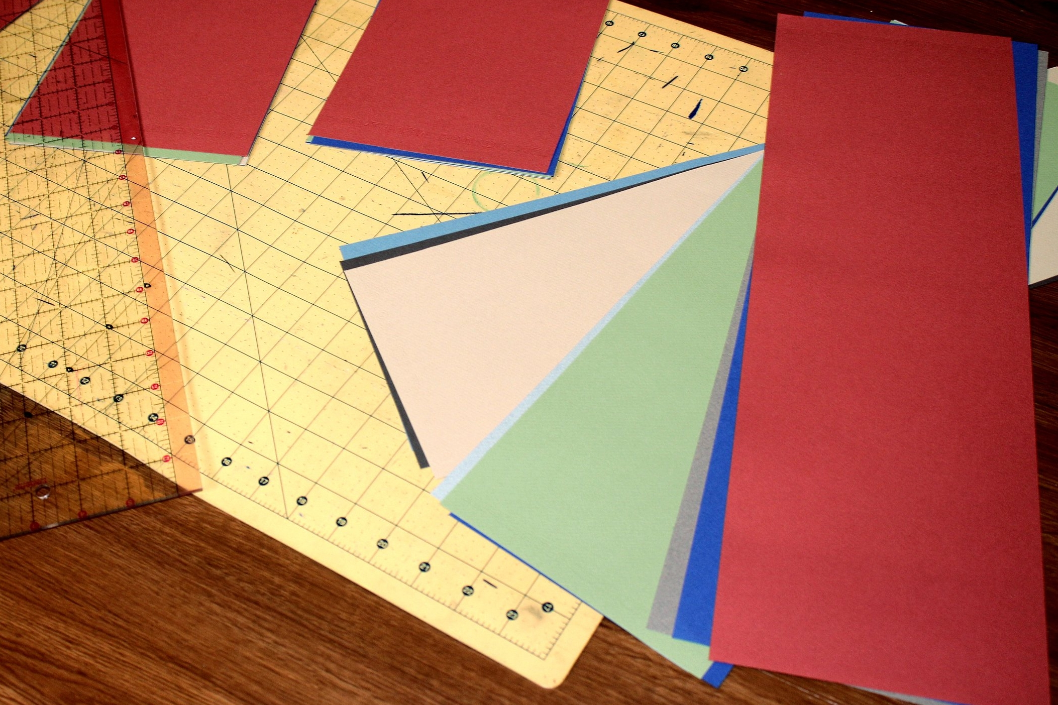 bookmaking tutorial describing cutting the paper