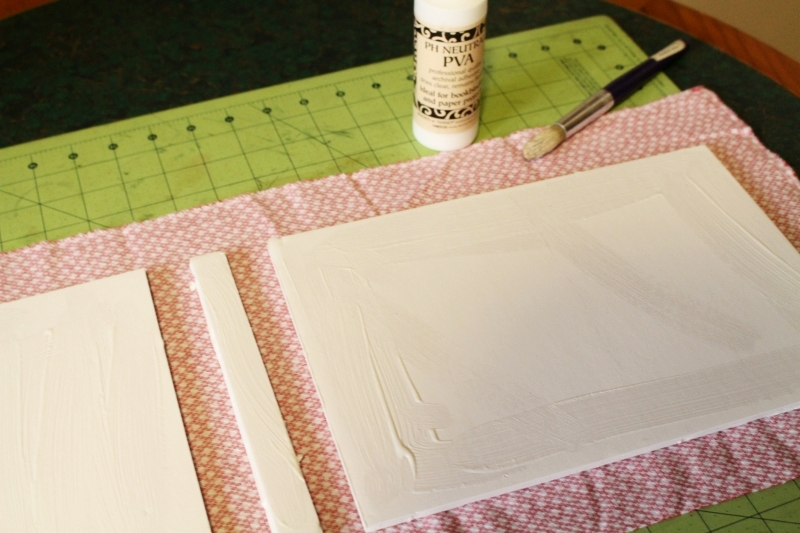 glueing your homemade book