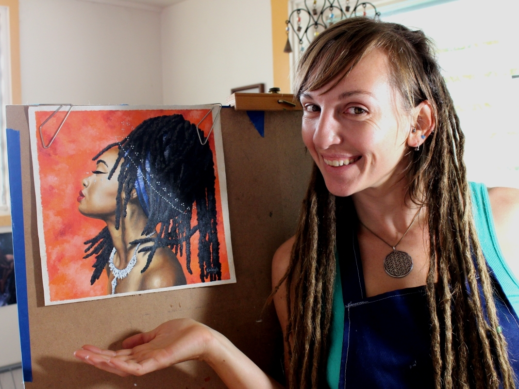 oil painting tutorial about painting African skin tones