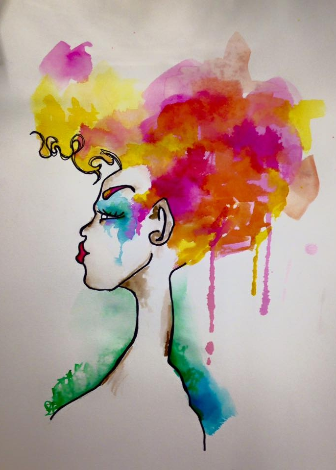 contemporary watercolor art