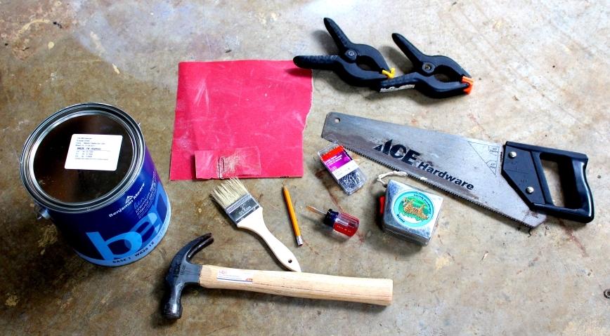 supplies needed for diy art studio shelf