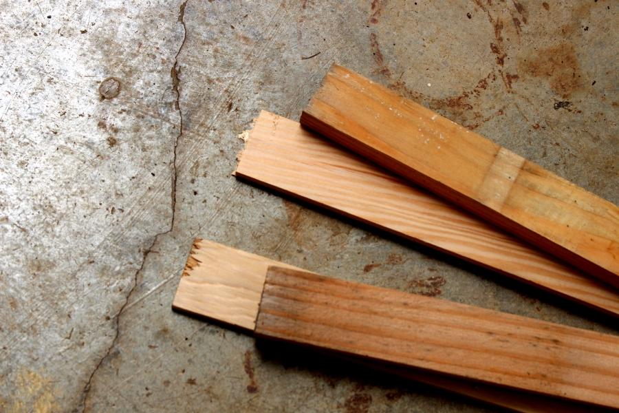 wood for making an art studio shelf