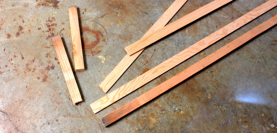 wood cuts for studio art shelves