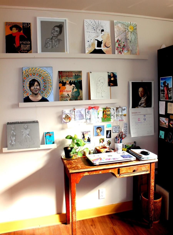 artist blog about her studio
