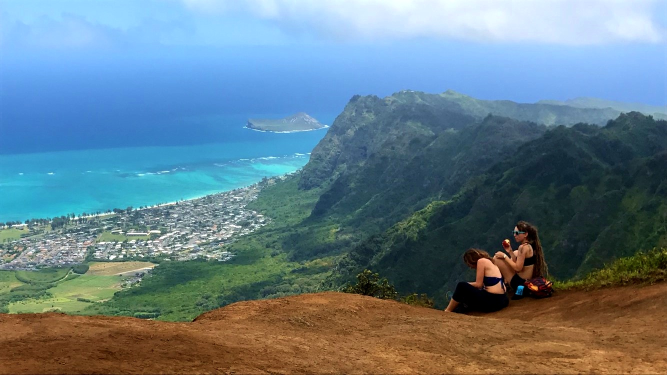 The best part of my week was definitely my Friday morning hike! My friend Kyveli and I conquered the Kuliouou ridge in under four exhilarating hours. It's hard to be too upset at computer stuff when I can distract myself charging up to the top of the world...