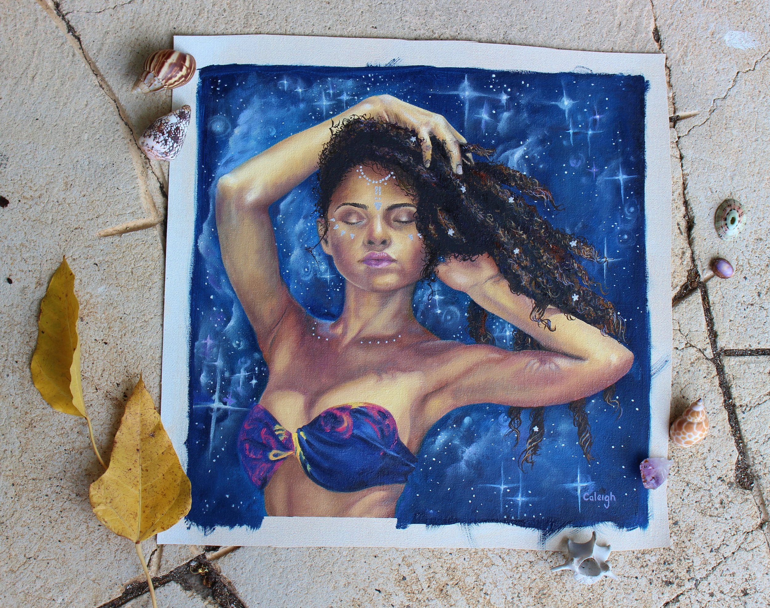 dreadlock goddess artwork