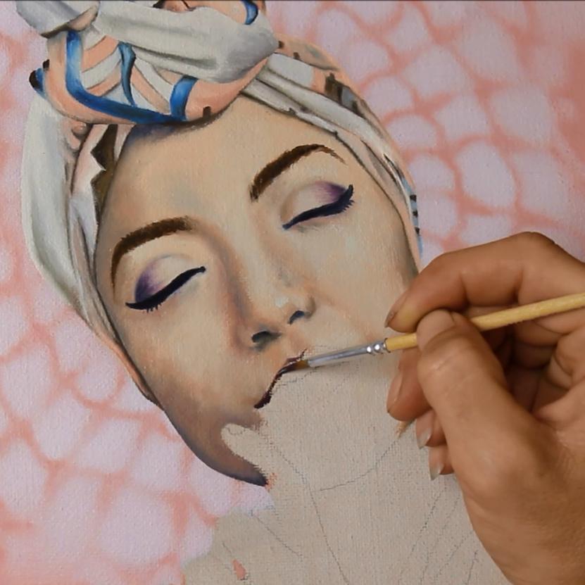 oil painting progress photo