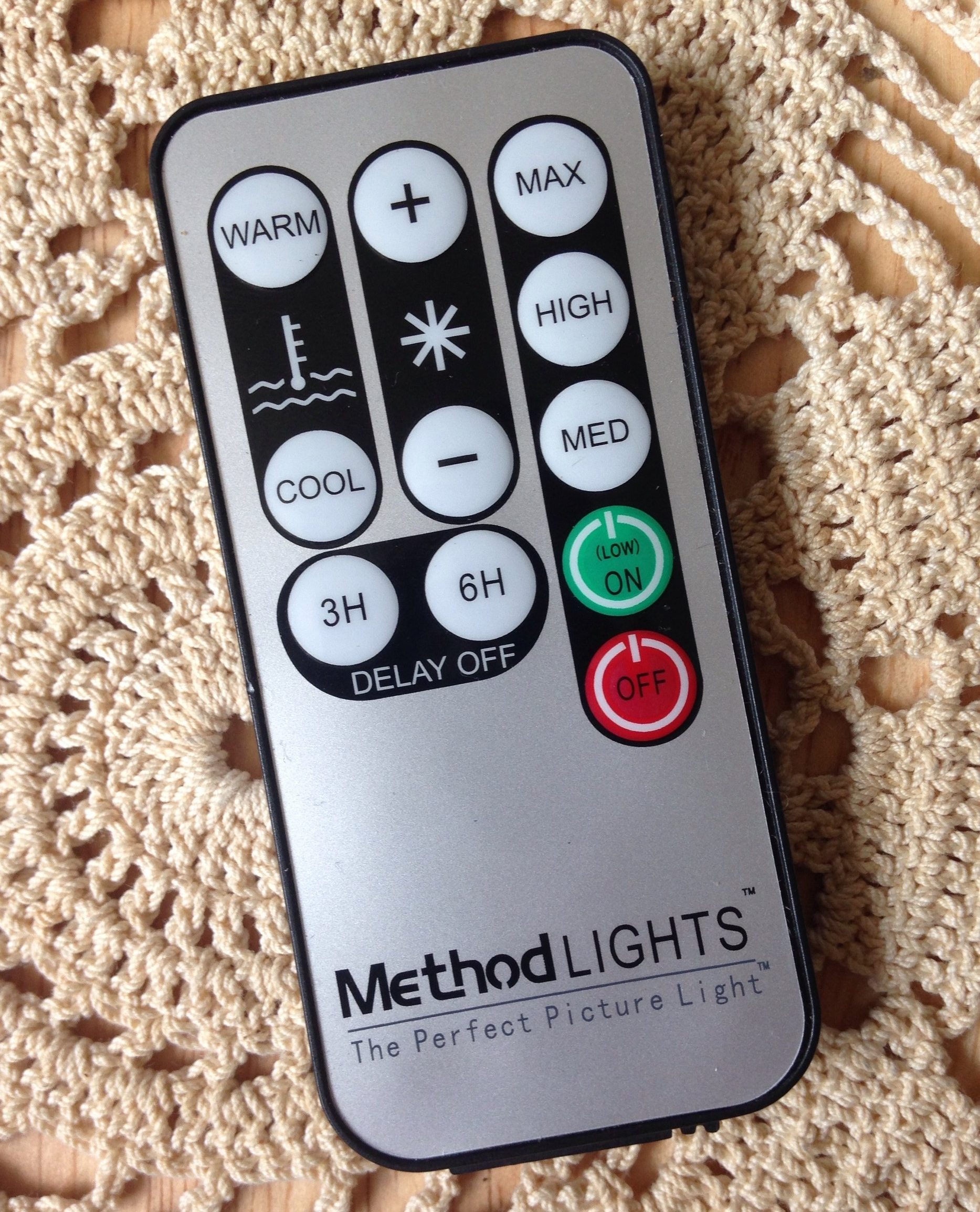 remote for art studio lighting