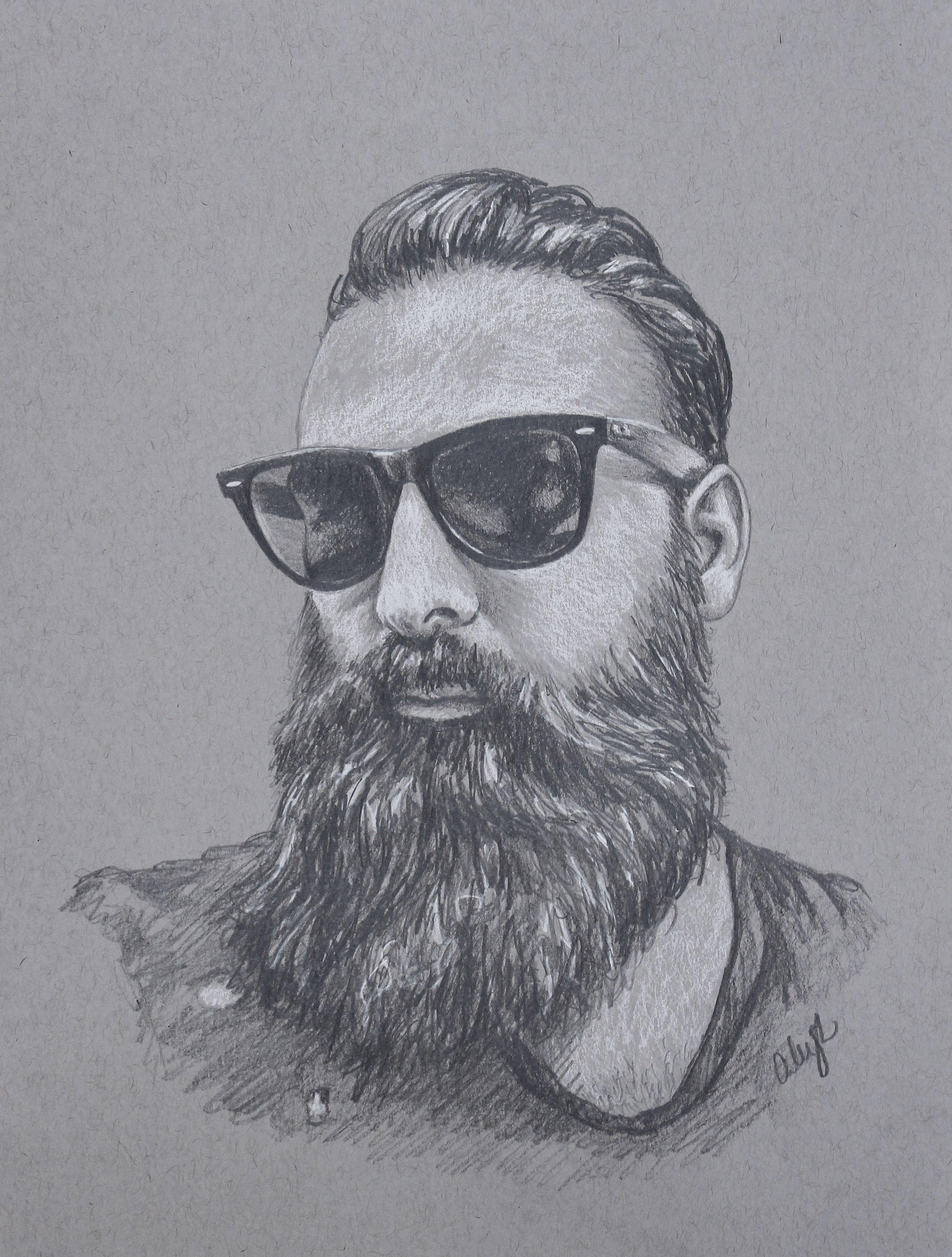 bearded hottie drawing
