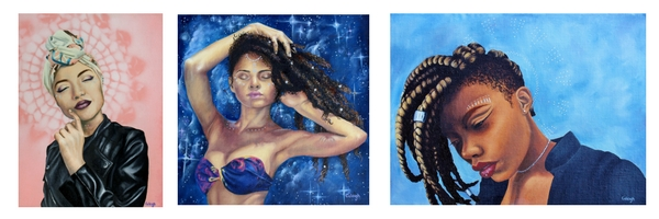 ethnically diverse portrait paintings