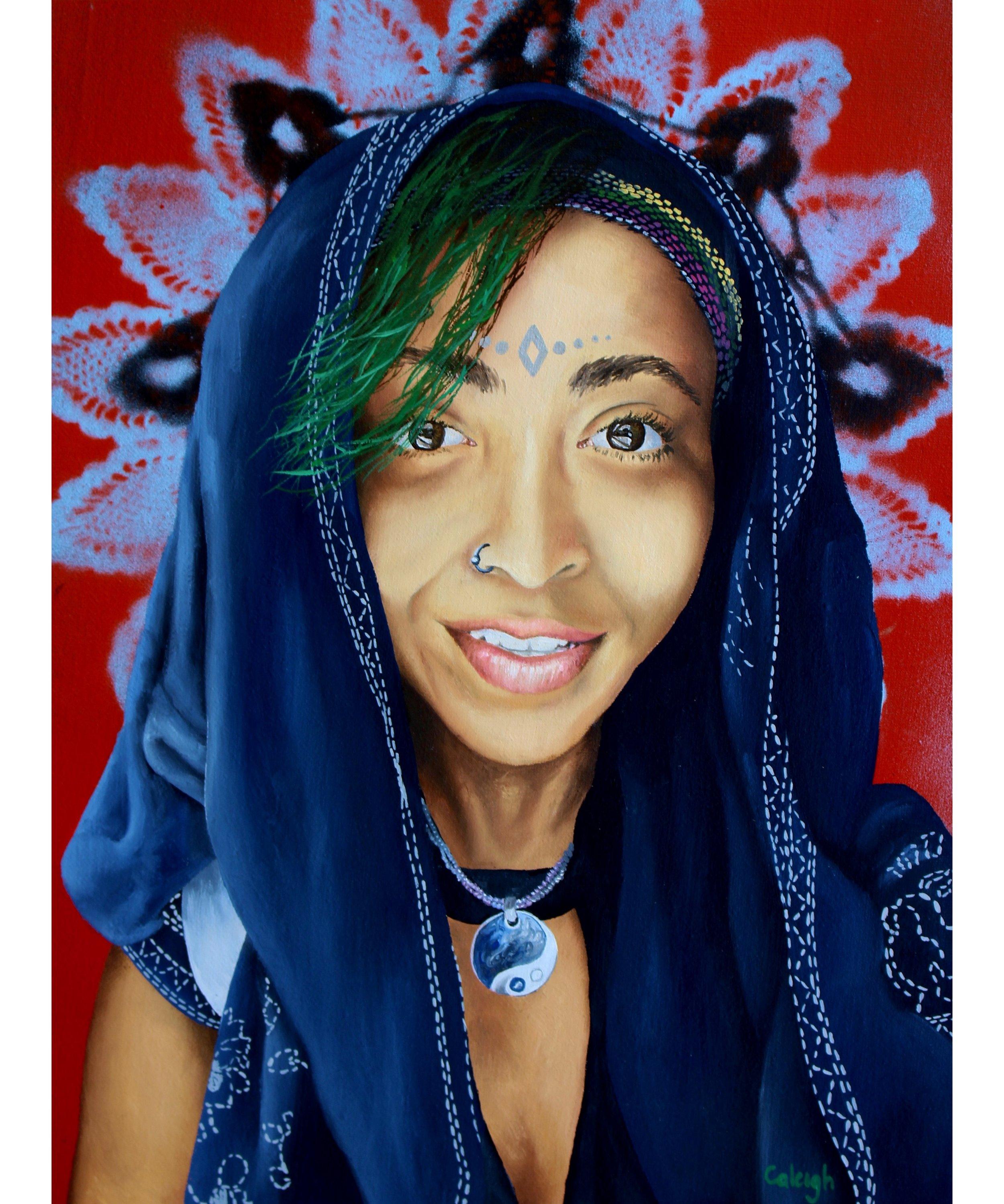 bohemian goddess oil painting