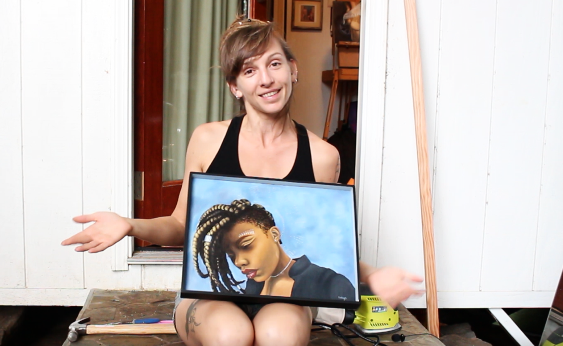 how to frame paintings on a budget