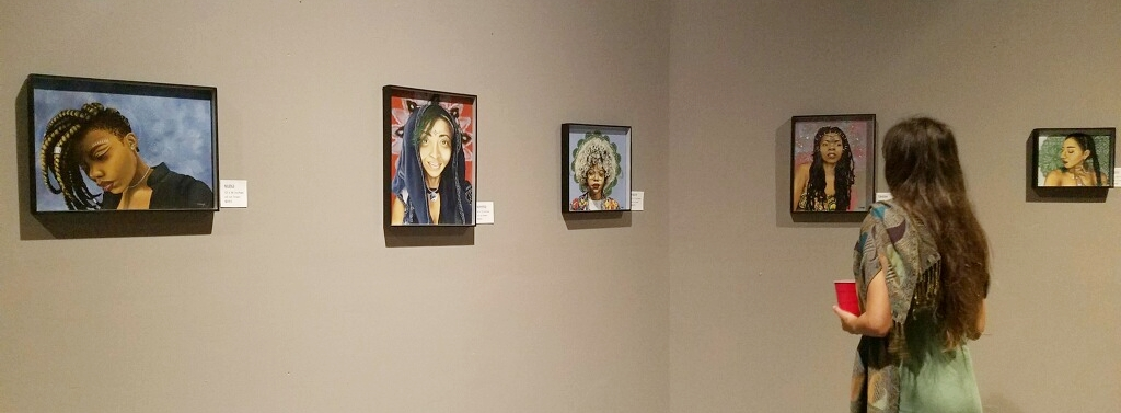 A little sneak peek of my artwork hung up for the big night. More pics  here