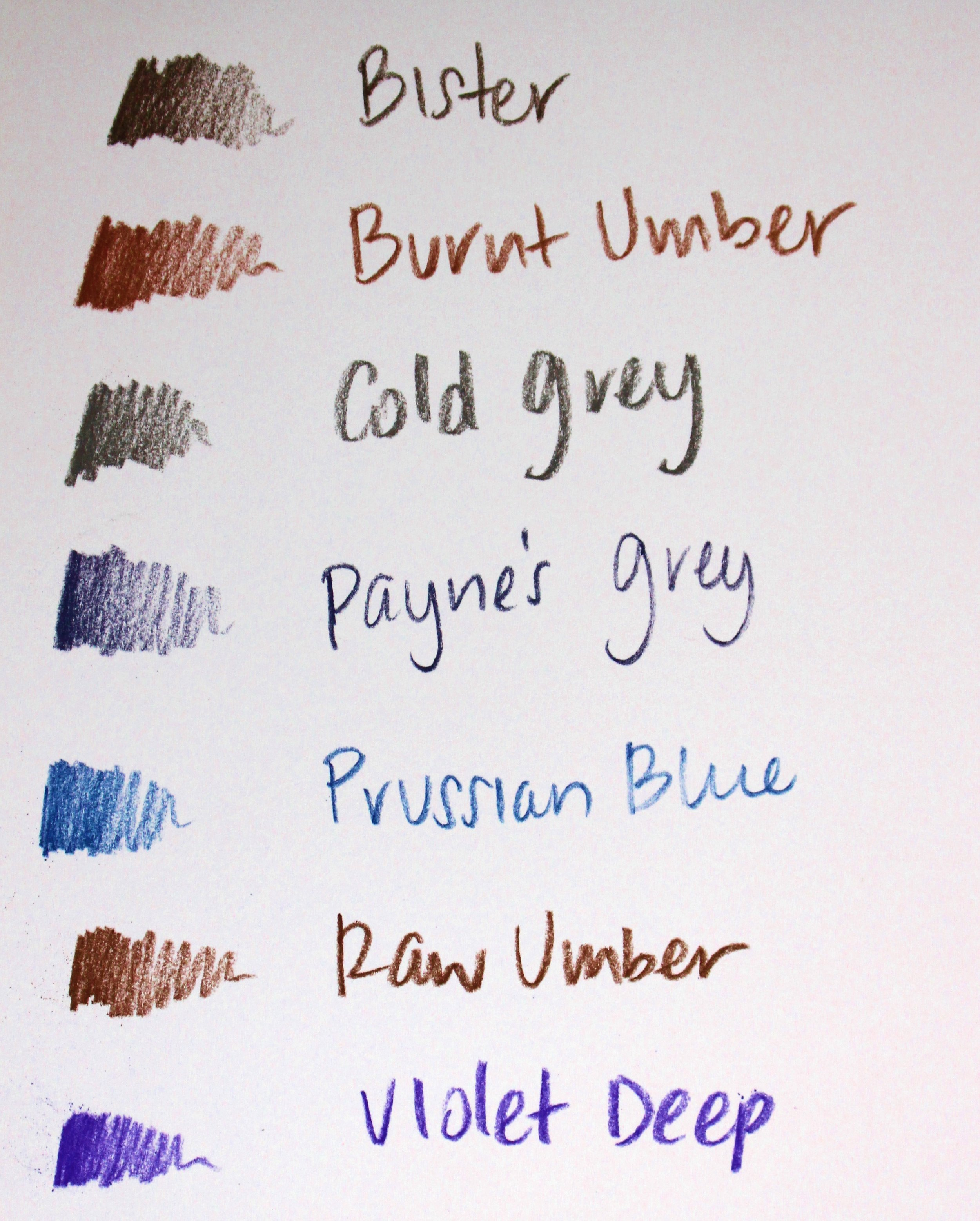 carbothello pencil review colors