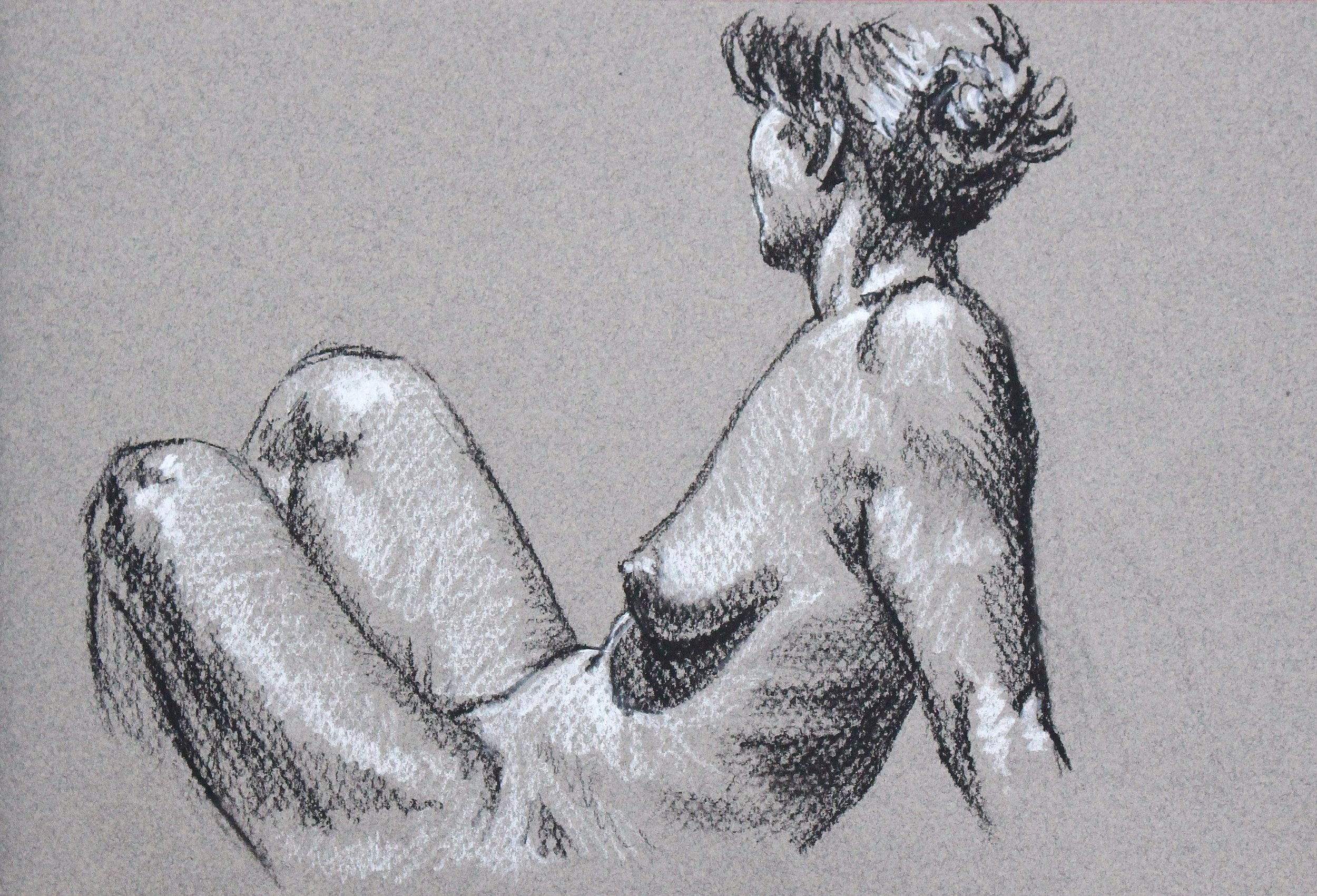 figure drawing in charcoal