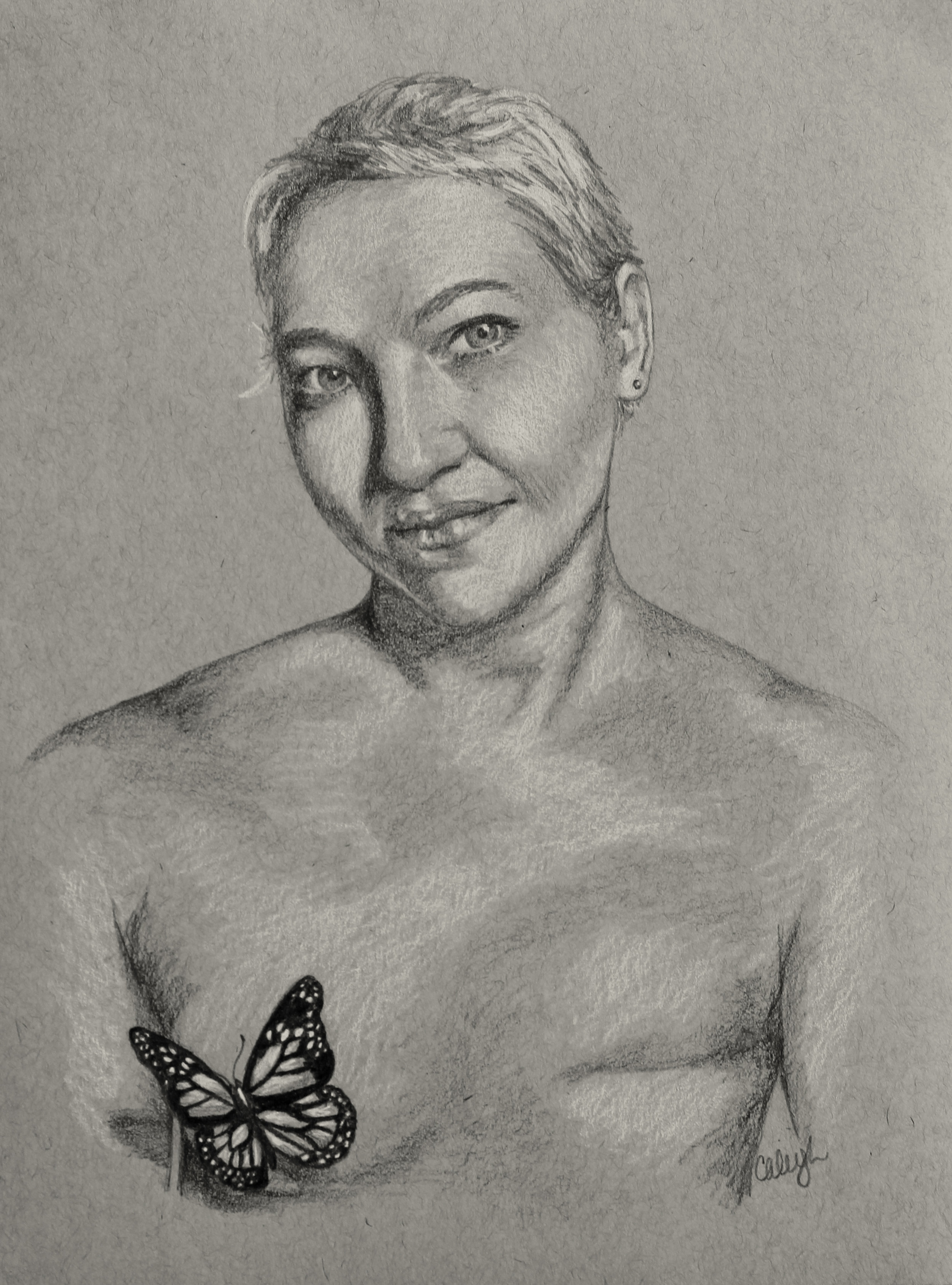portrait of a breast cancer patient