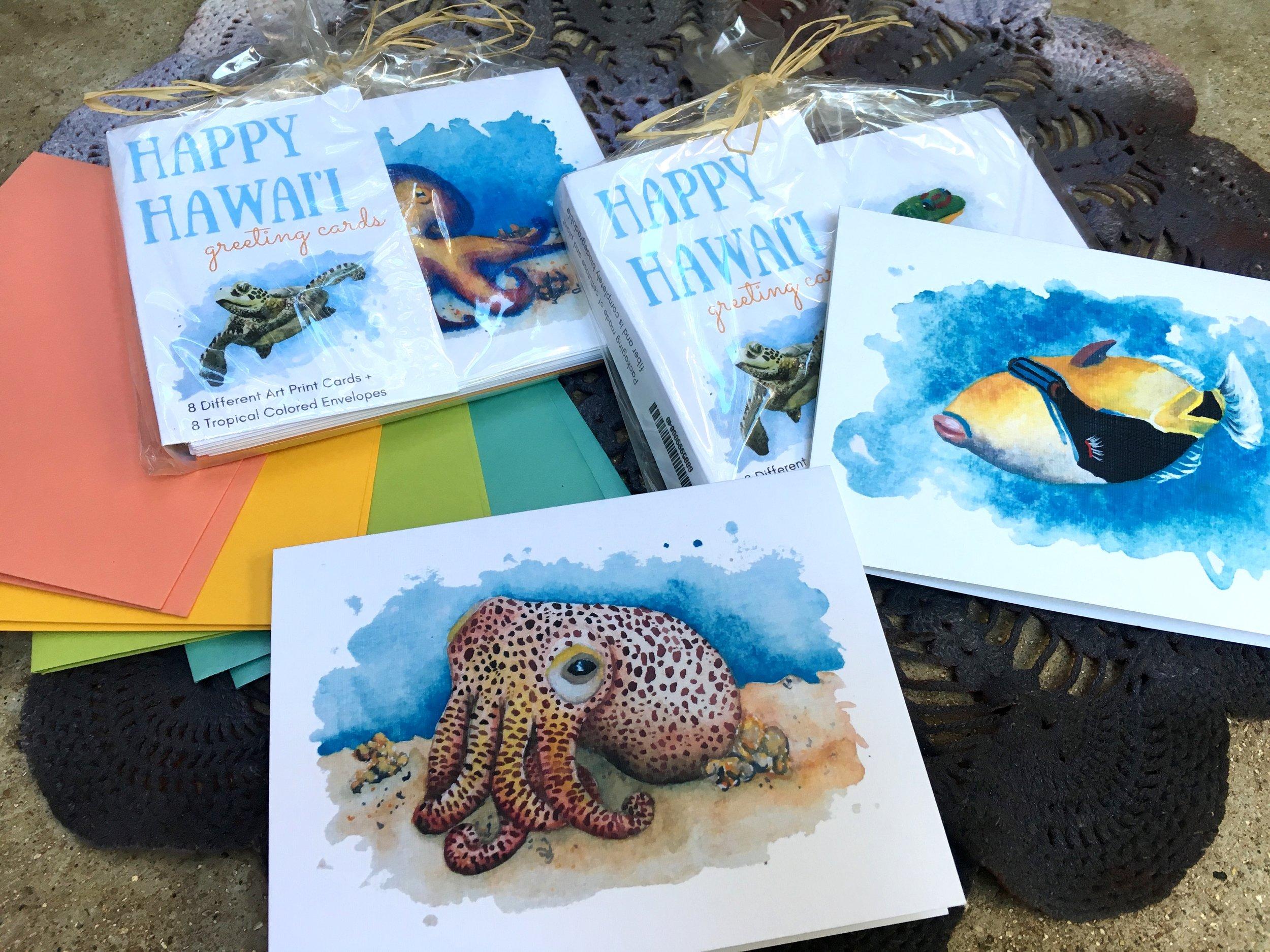 happy hawaii greeting cards