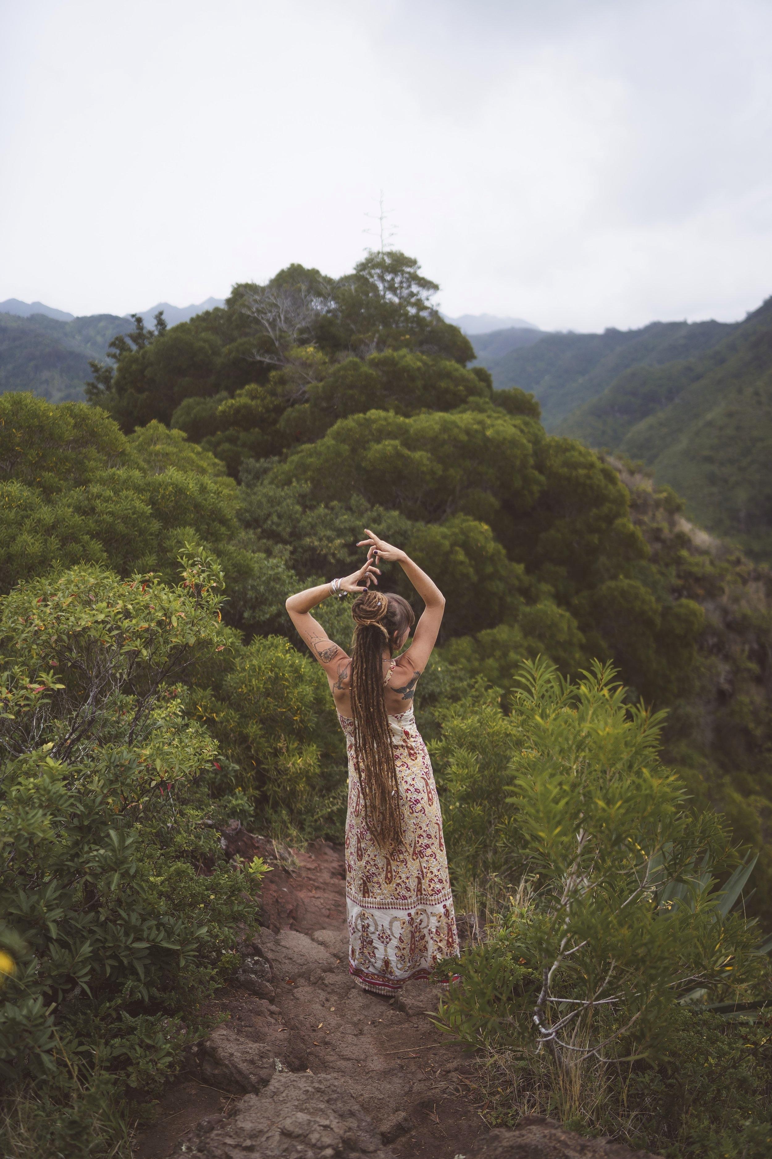 dreadhead on a mountaintop
