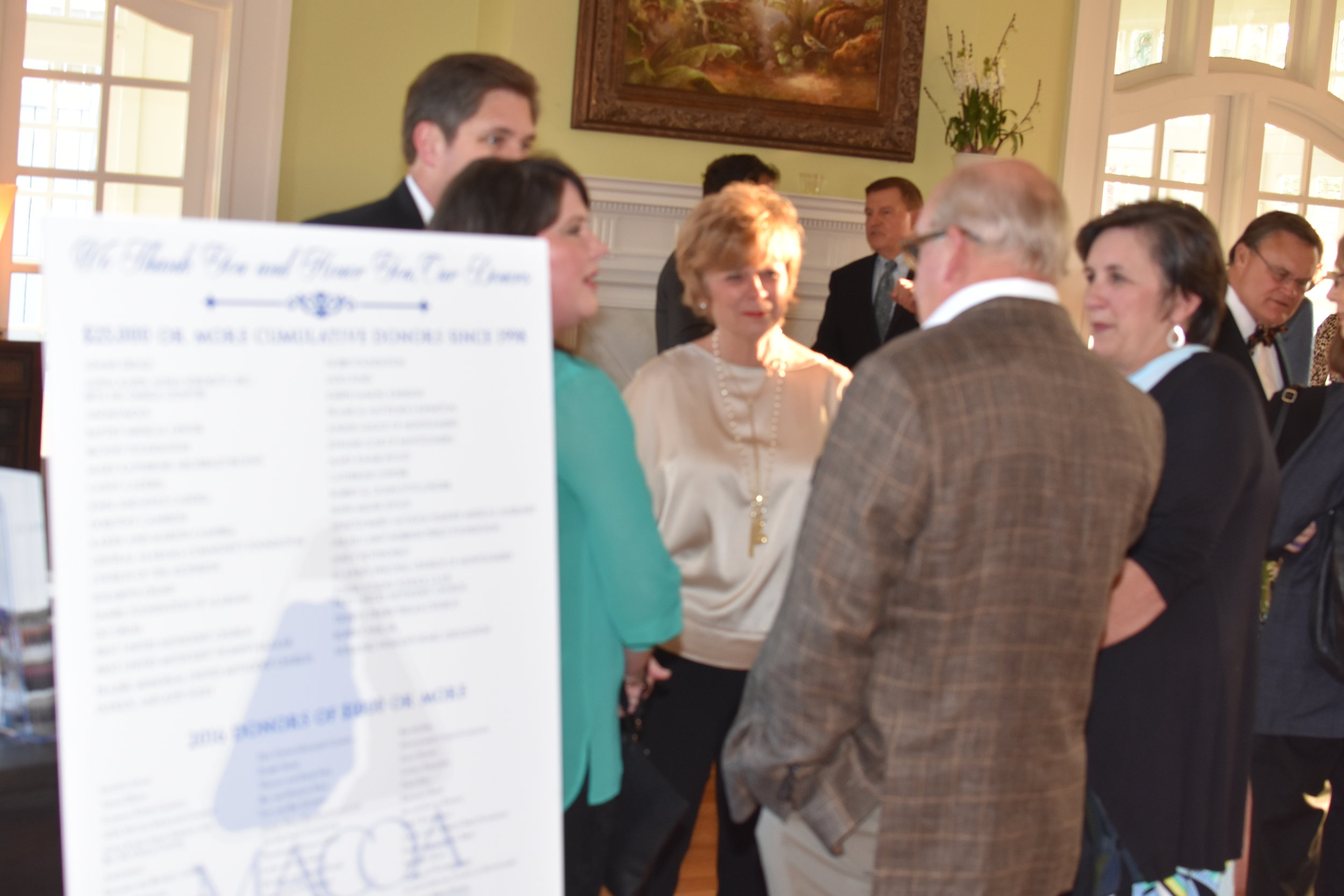 6-Guests and Board members enjoy fellowship during the first Donor Recognition Reception .JPG