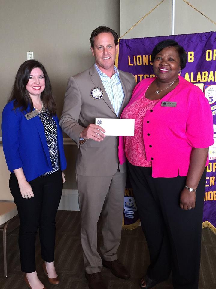 Lions Club Presentation- Melissa Bowman, Jason Walker- Lions Club President, and Gwen Hayes.jpg