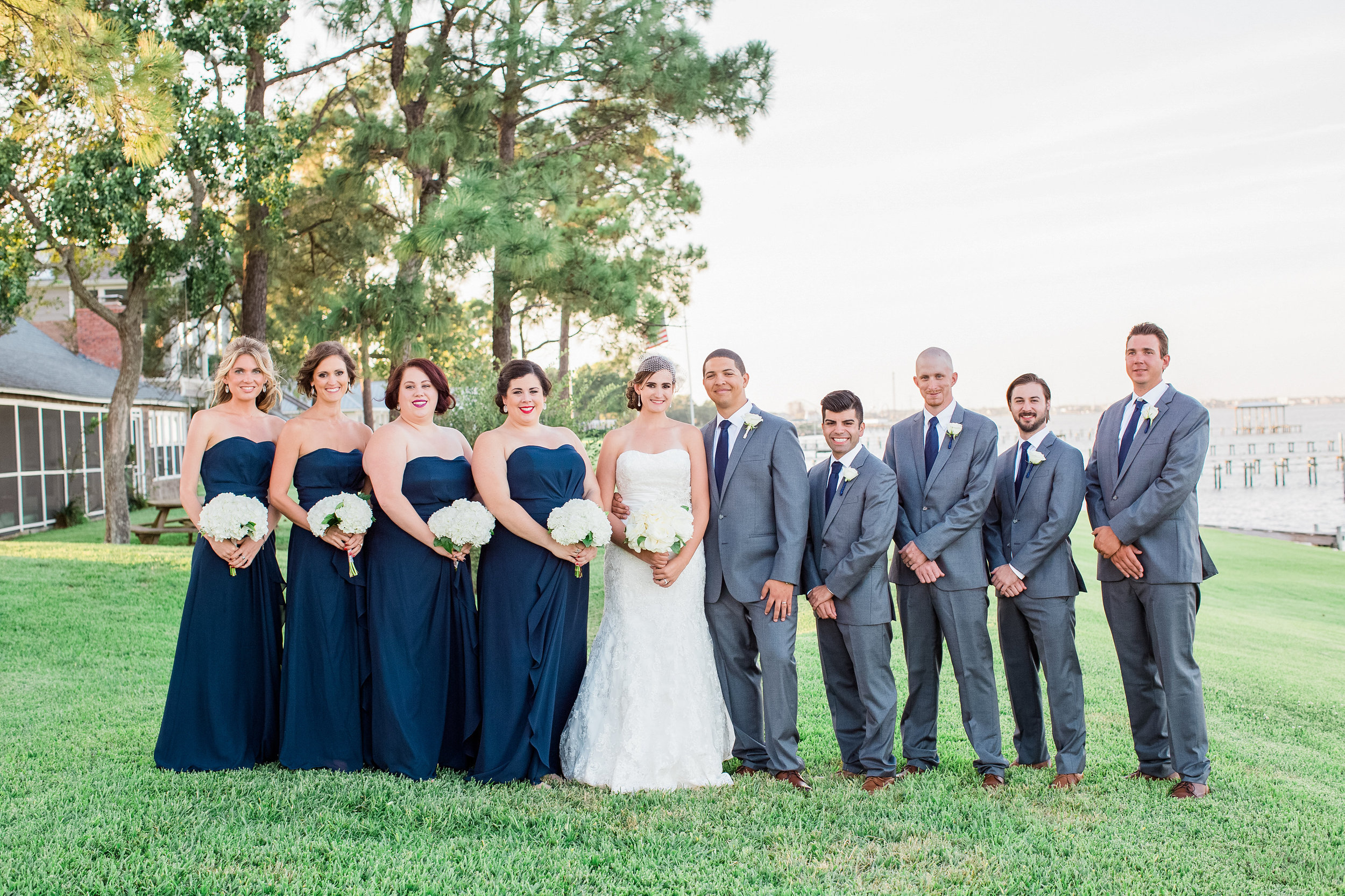 Plan Our Day Houston | Wedding Coordinators | Kemah, TX Wedding at Texas Corinithian Yacht Club | Bridal Party Pics