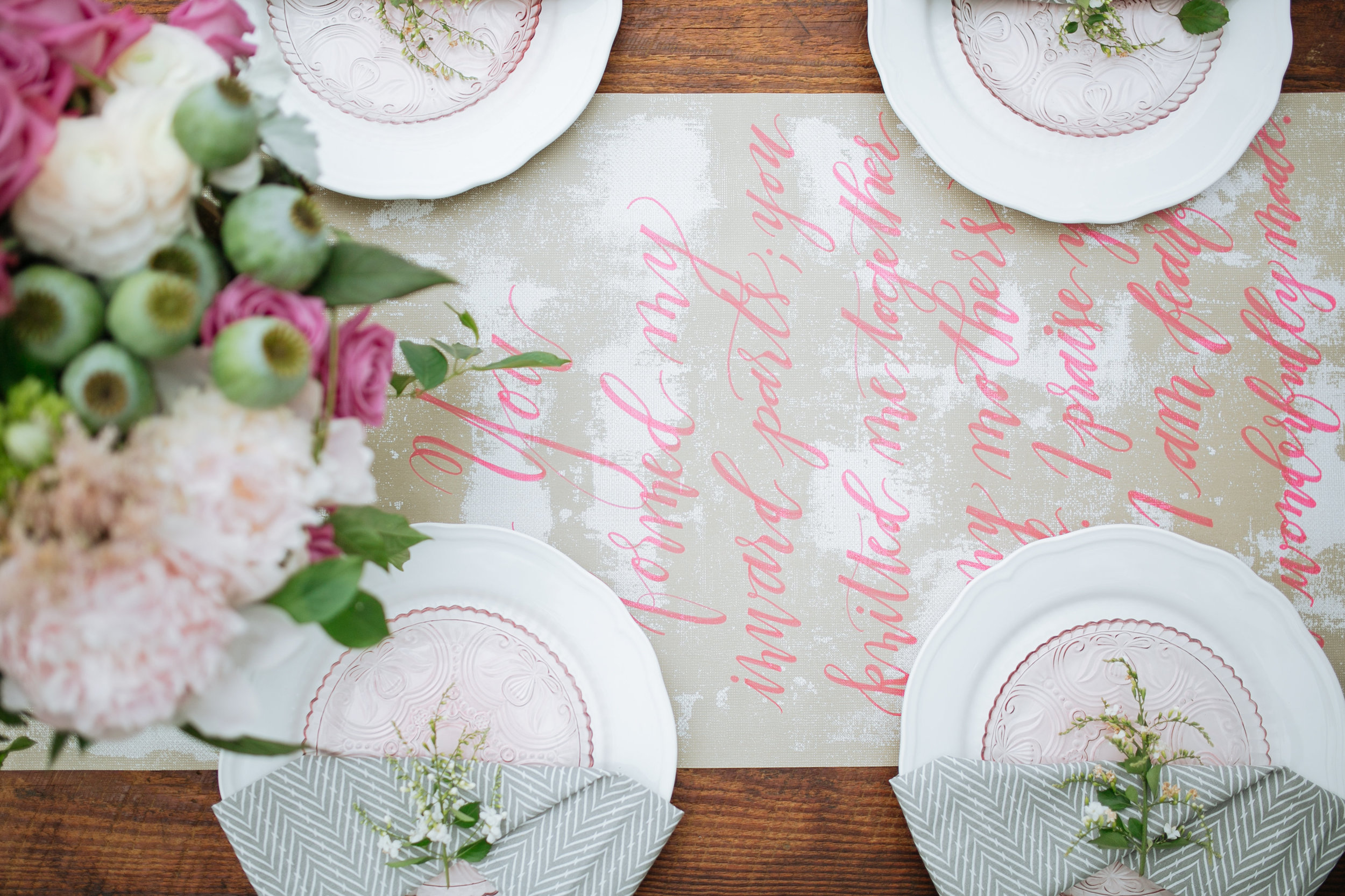 Houston Outdoor Baby Shower | Houston Event Planners | Baby Shower Ideas | Table Runner