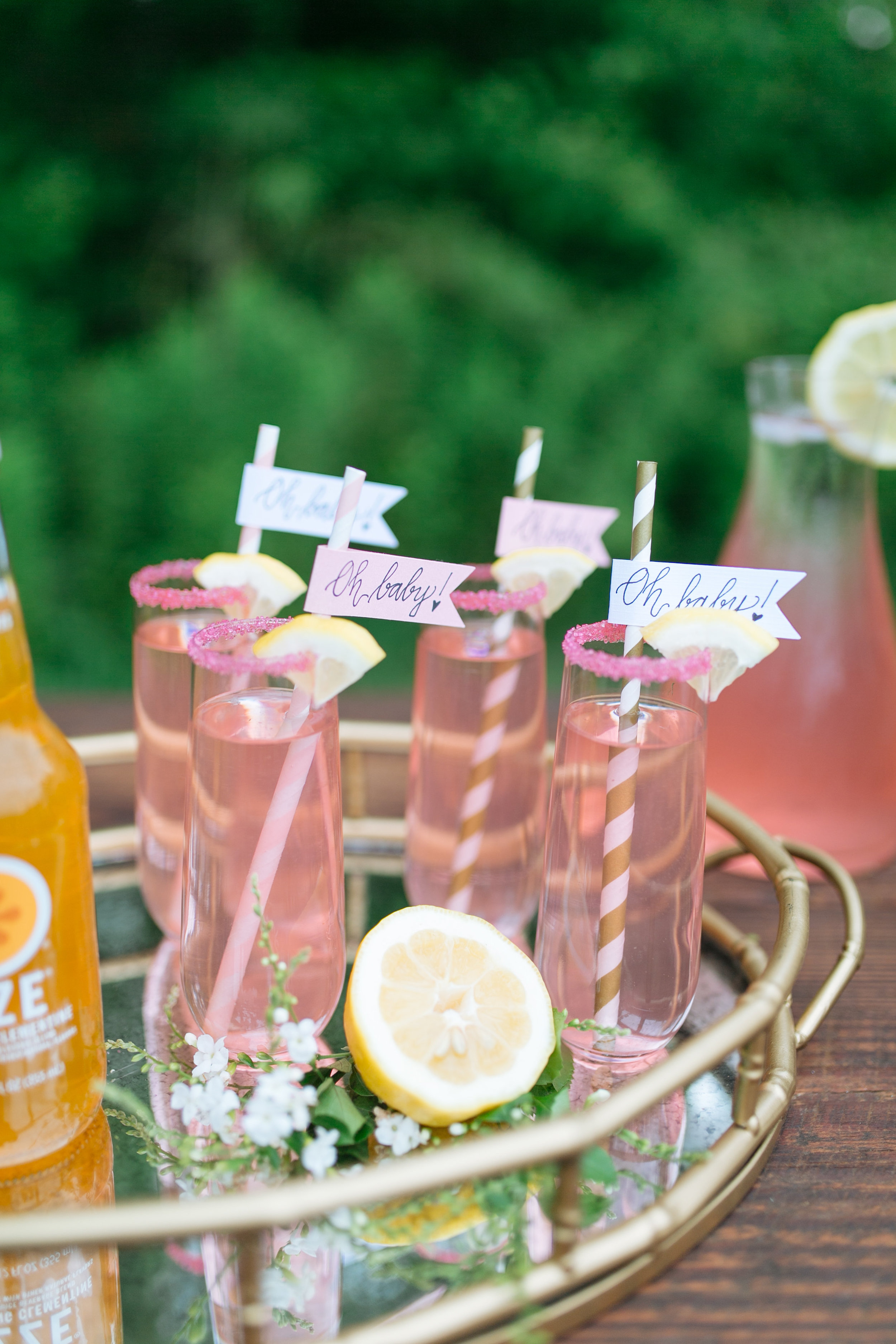 Houston Outdoor Baby Shower | Houston Event Planners | Baby Shower Ideas | Strawberry Lemonade