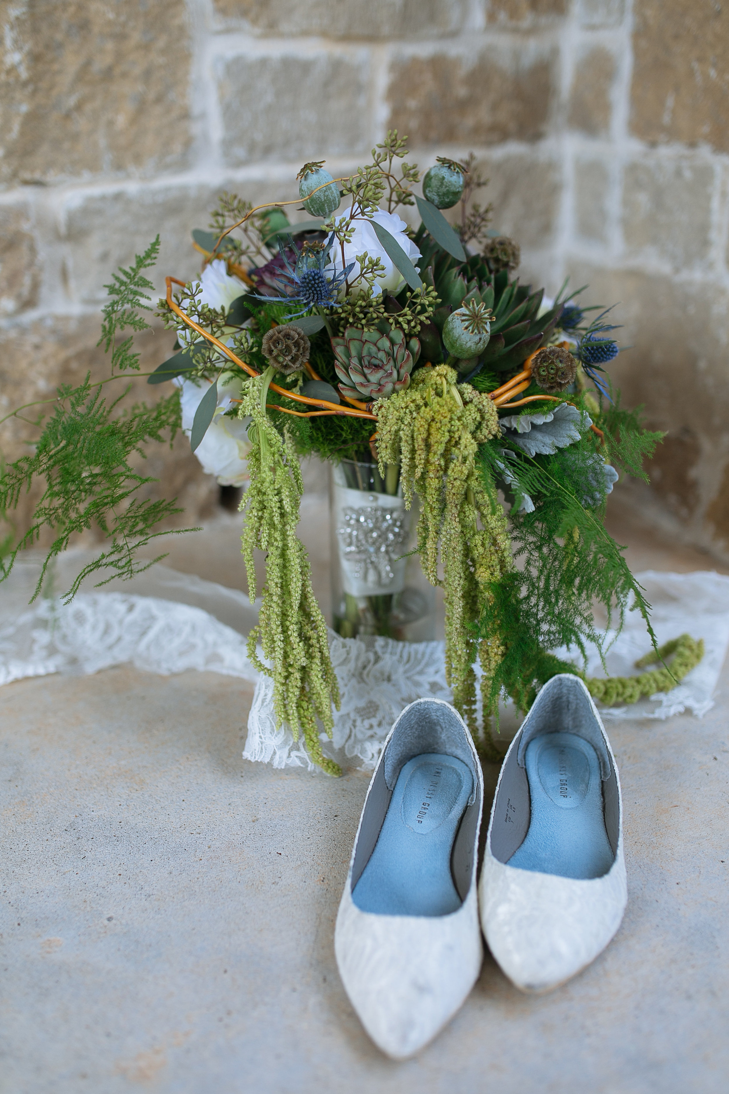 Boho Wedding Bouquet| Succulents