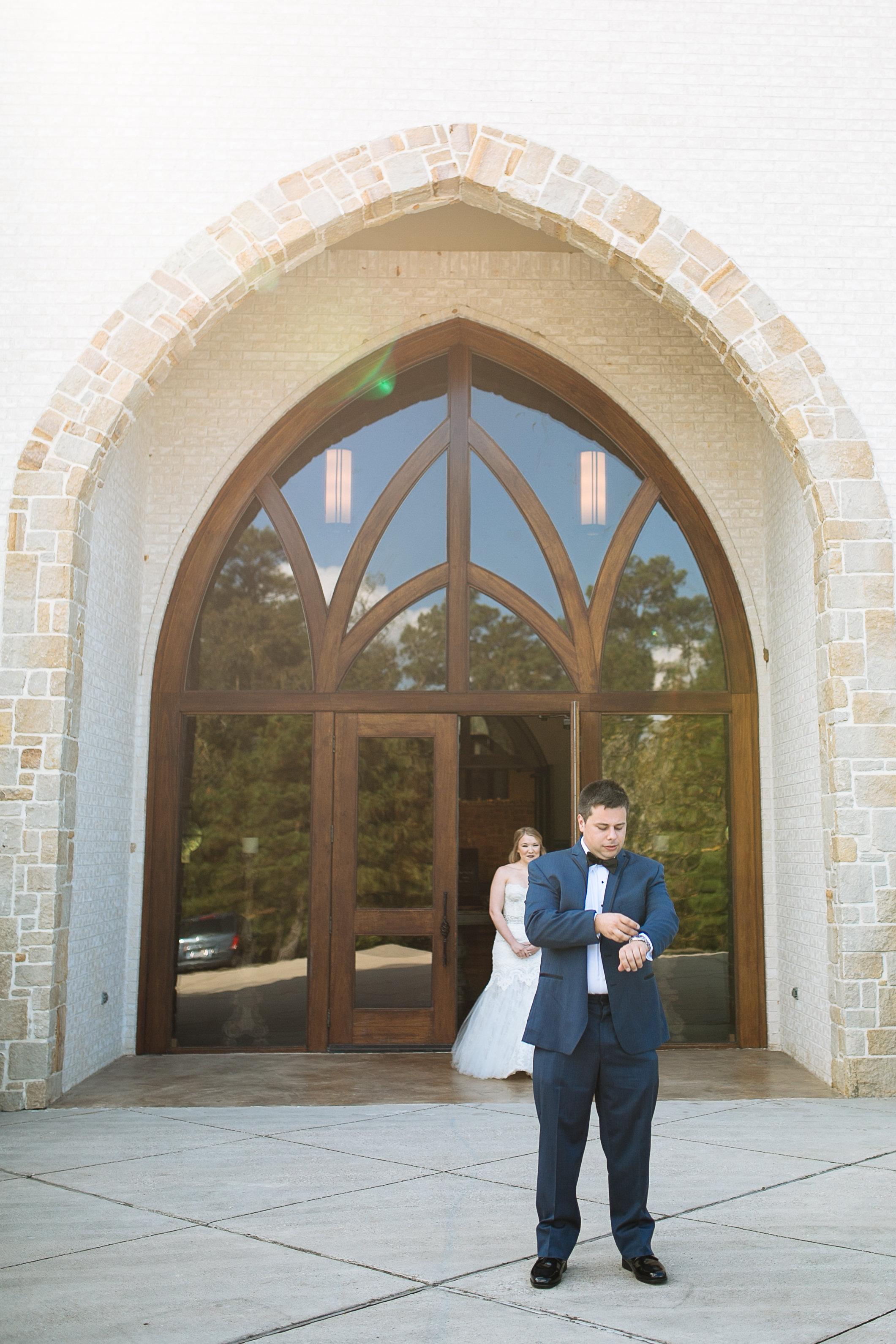 First Look | Woodlands, TX Wedding