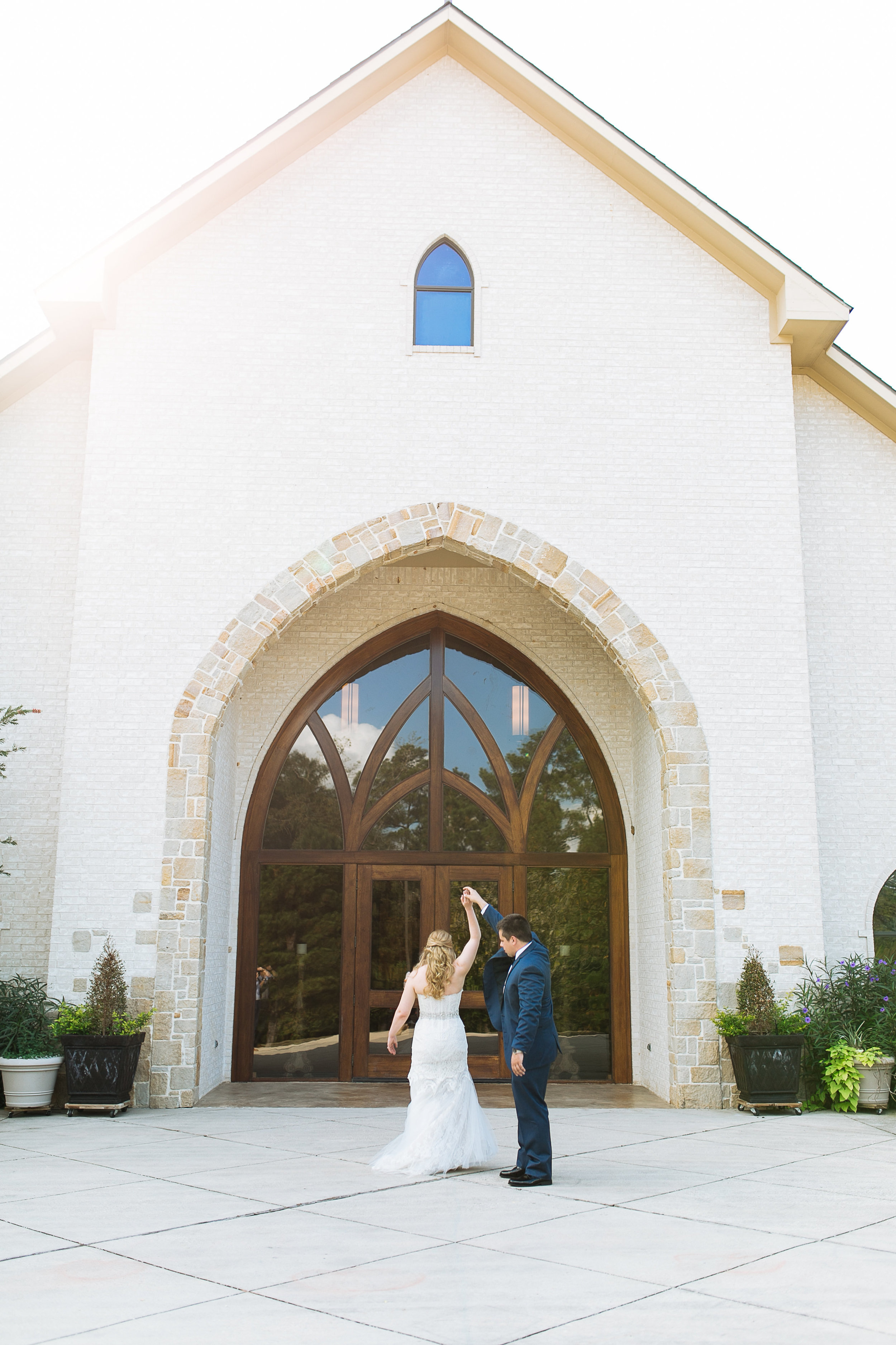 First Look | Grace Presbyterian Wedding Ceremony | Houston, TX