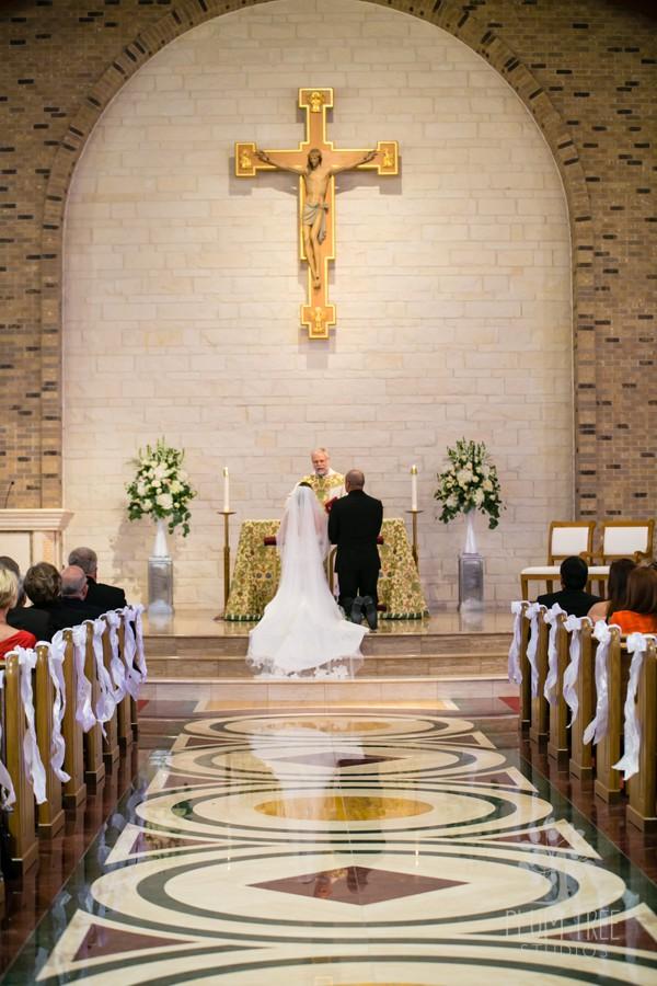 Wedding Ceremony at St. John Vianney Catholic Church | Houston Wedding Planners