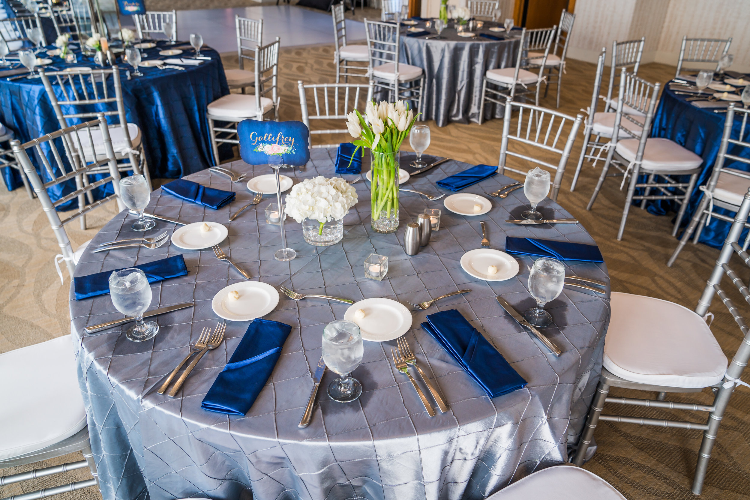 Silver and Blue Wedding | Dr. Who Wedding | Plan Our Day Events