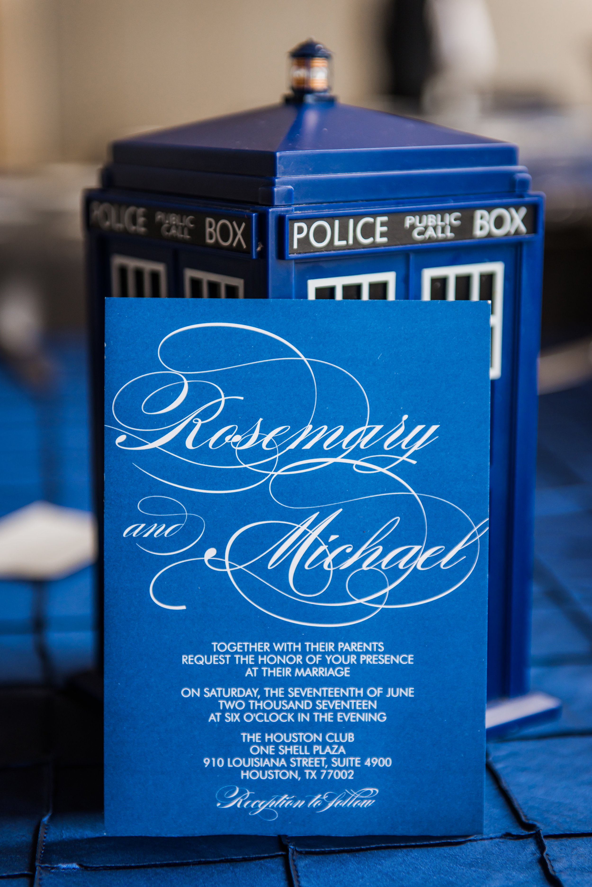 Dr. Who Wedding | Blue and SIlver Wedding | Plan Our Day Houston