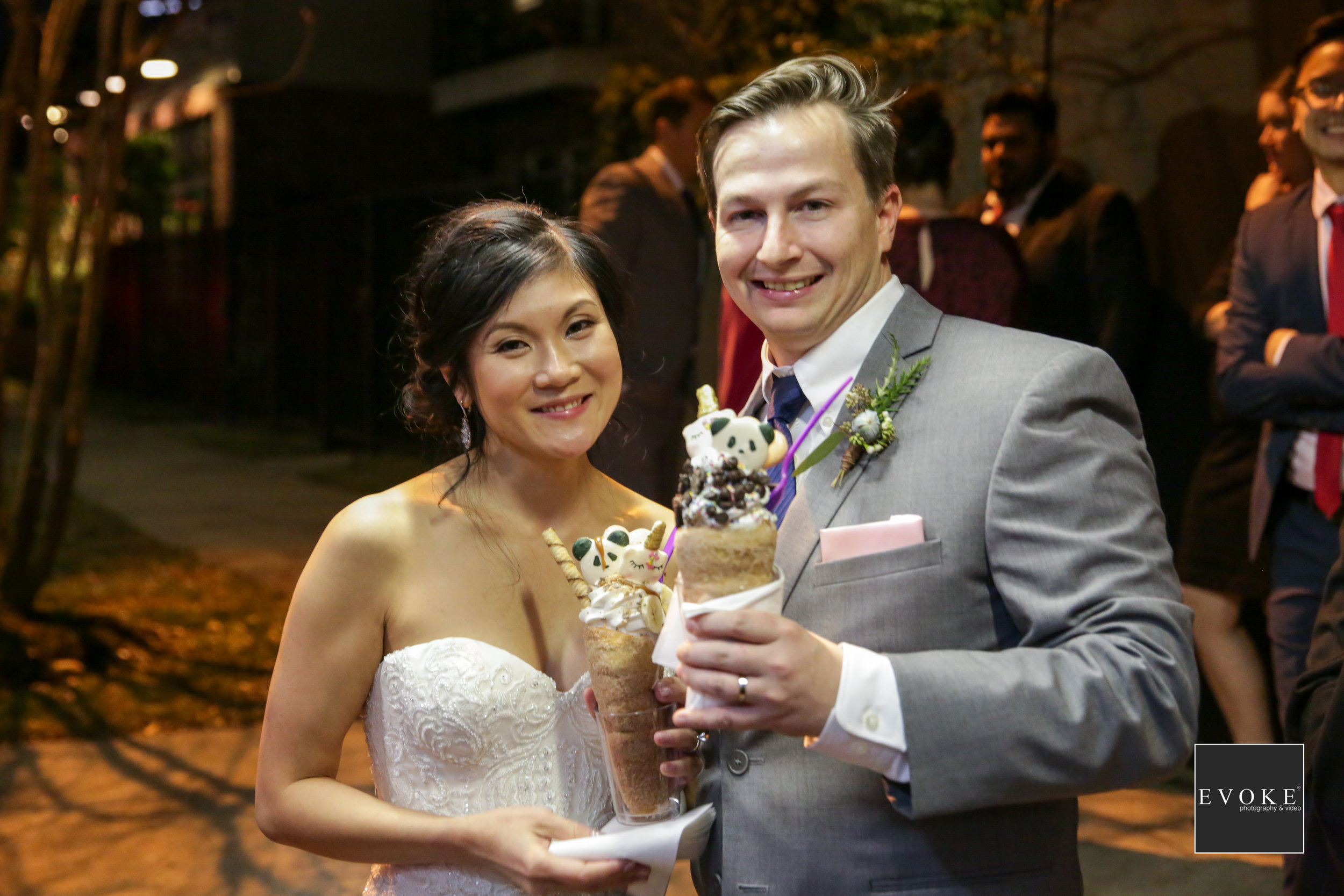 Unique Wedding Desserts | Dough Cone Ice cream Houston