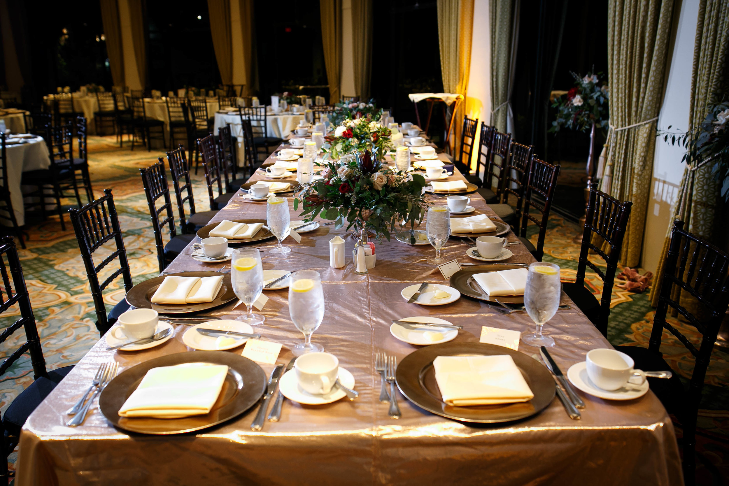 Rose Gold Winter Wedding At Hotel Galvez