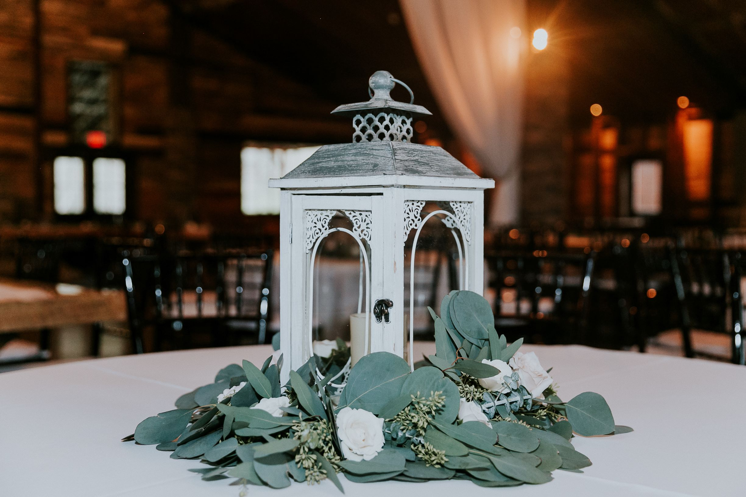 Big Sky Barn Wedding|Centerpiece