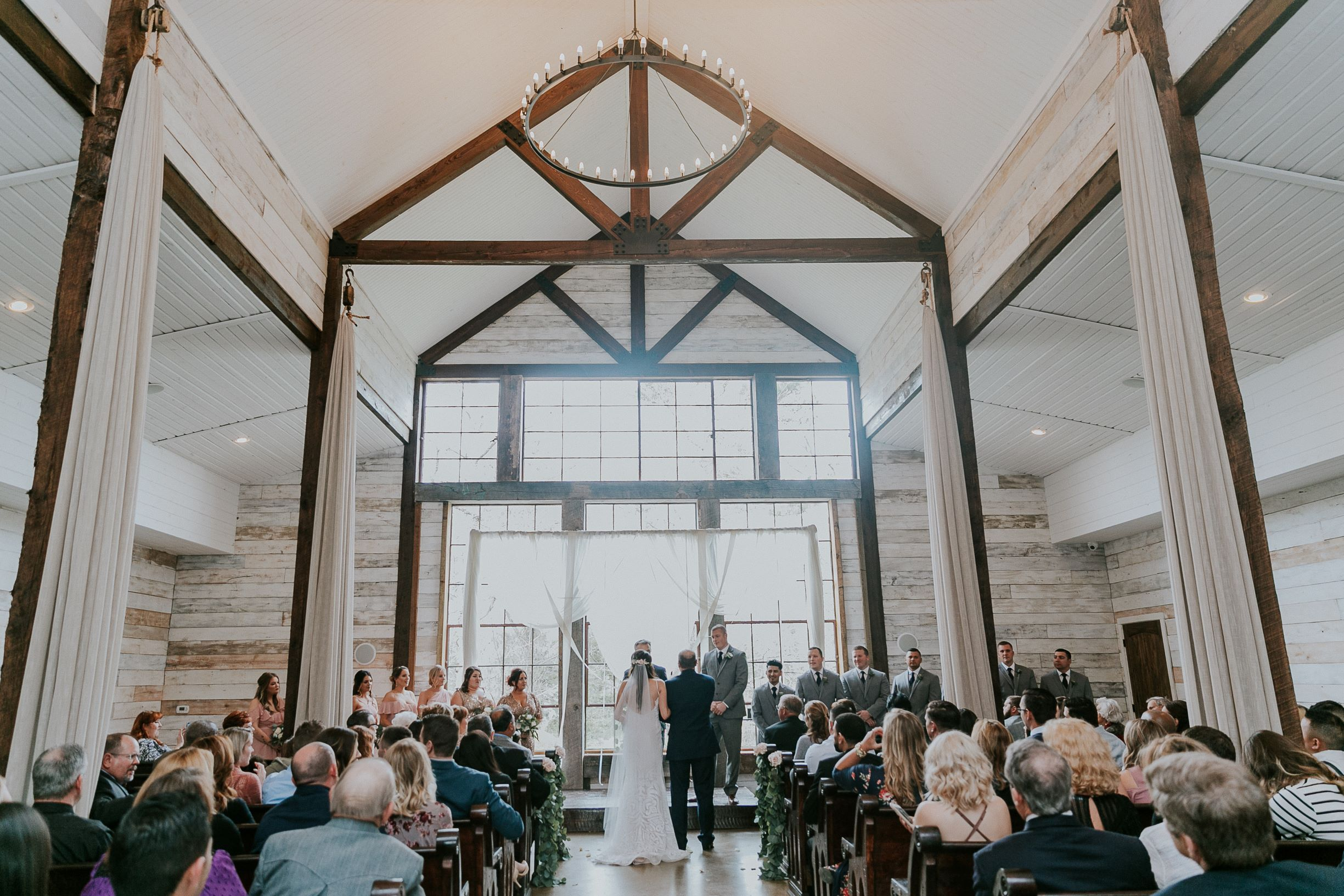 Venue Shot at Ceremony|Big Sky Barn Wedding