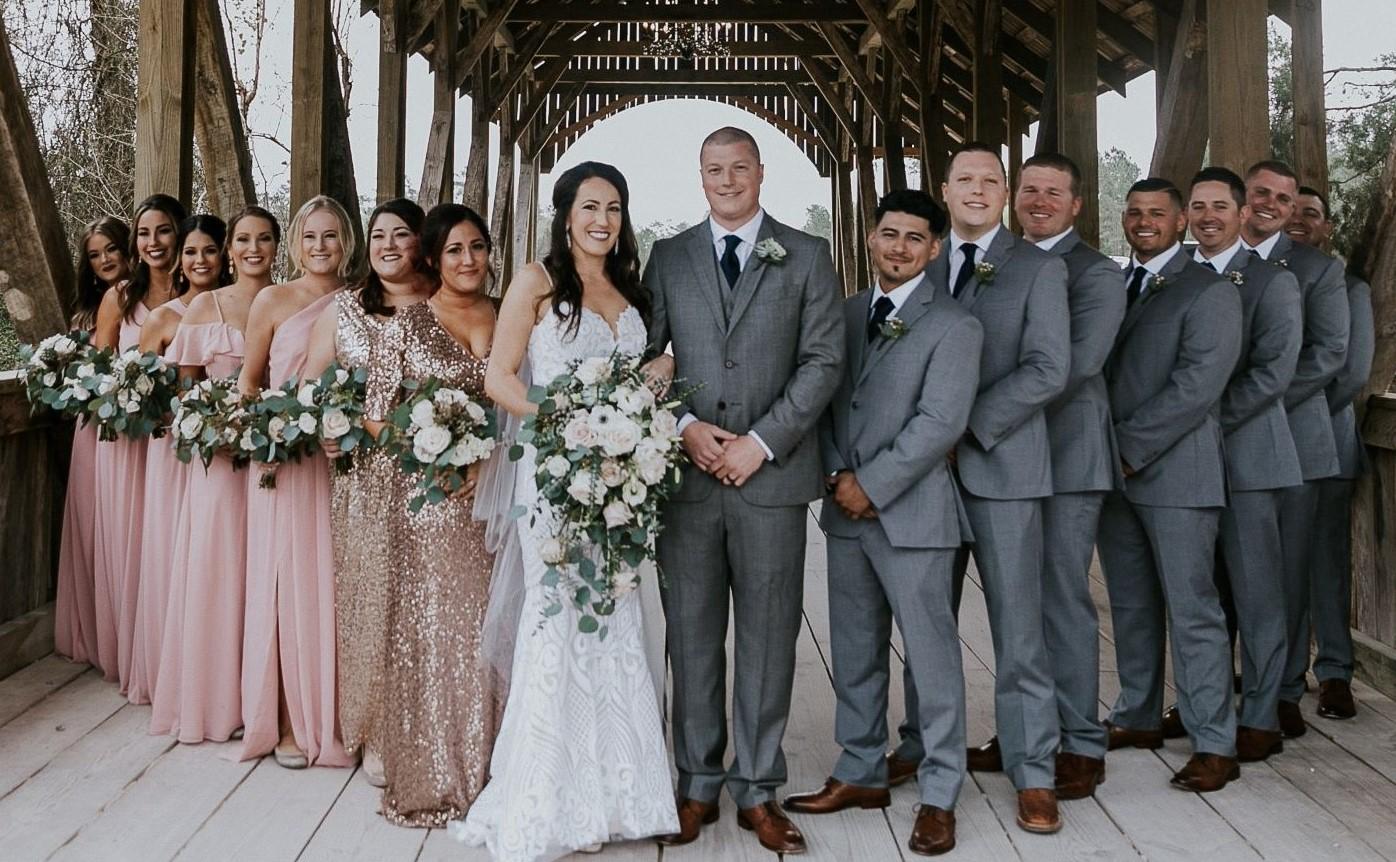 Wedding Party Photos Wedding at Big Sky Barn Wedding Planner Houston