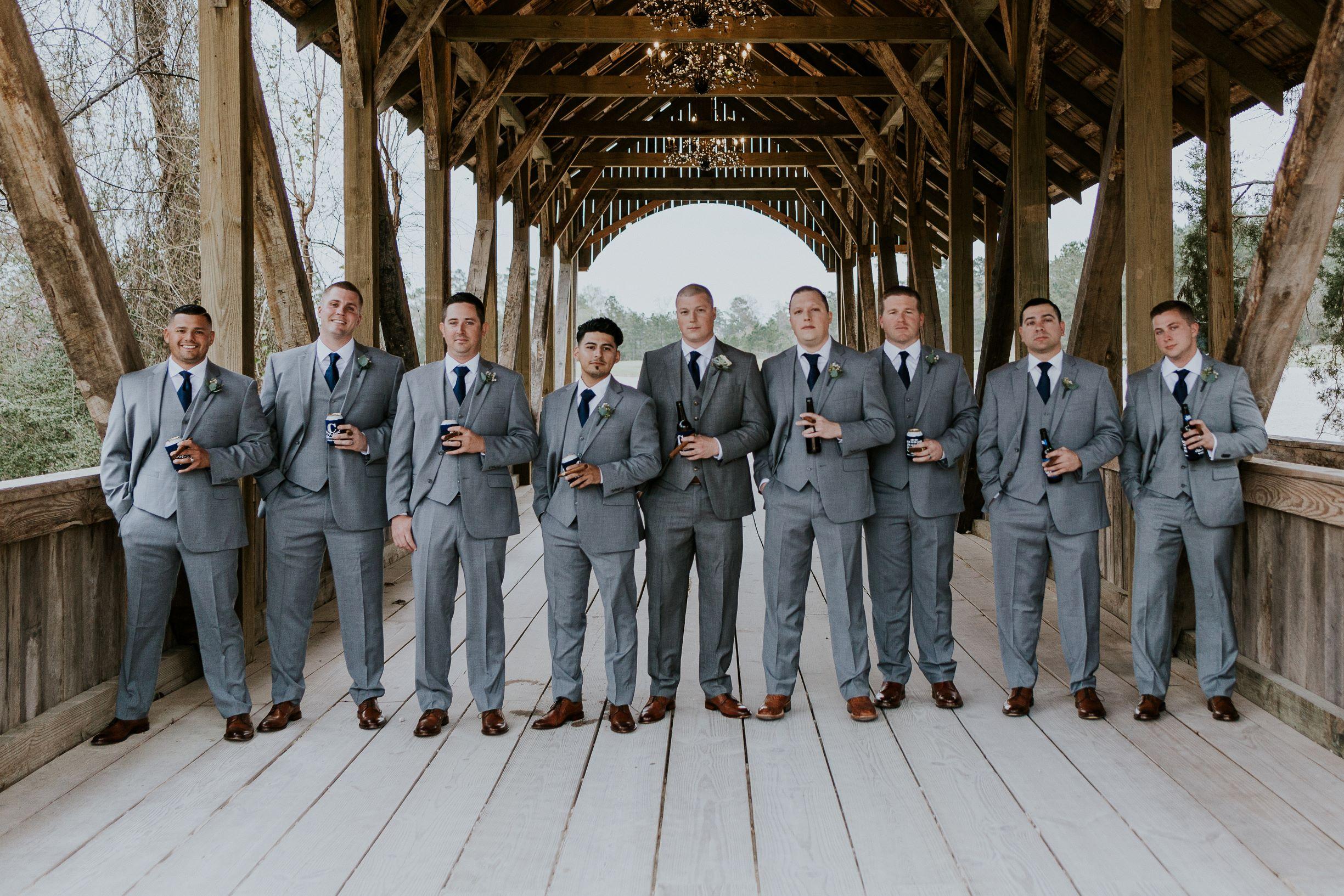 Groomsmen Photo Shots Big Sky Barn Wedding Houston Wedding Planner