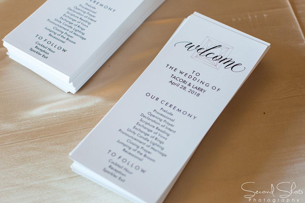 Wedding Program|Noah's Event Venue|Wedding Planners in Houston