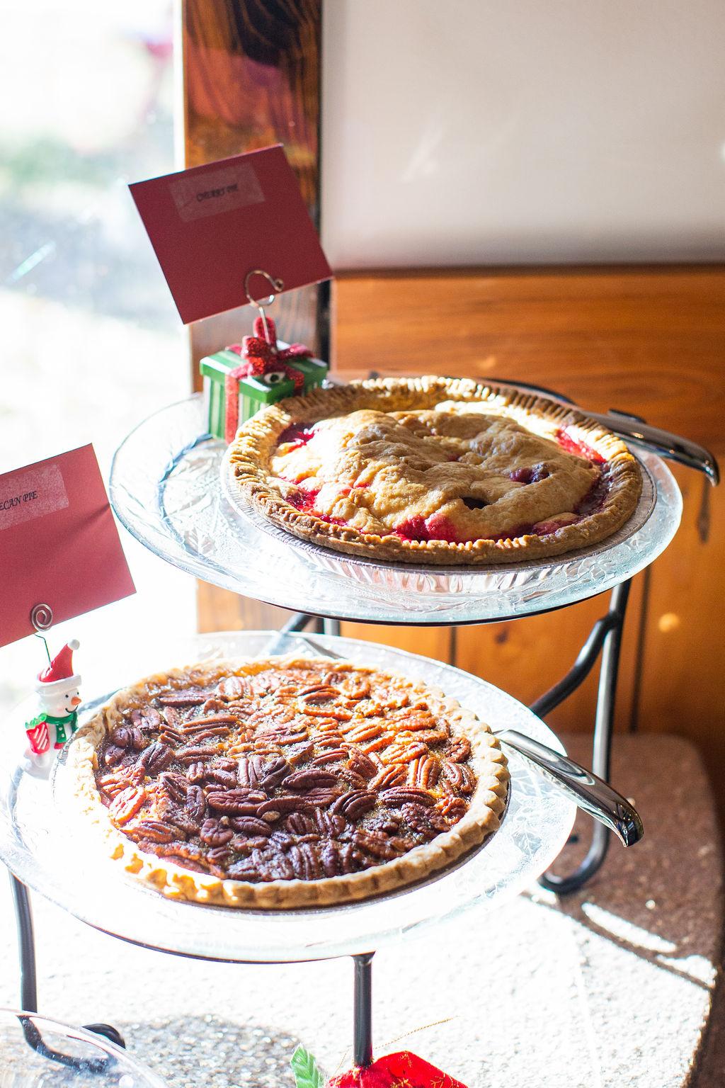 Christmas Dessert display- Pies