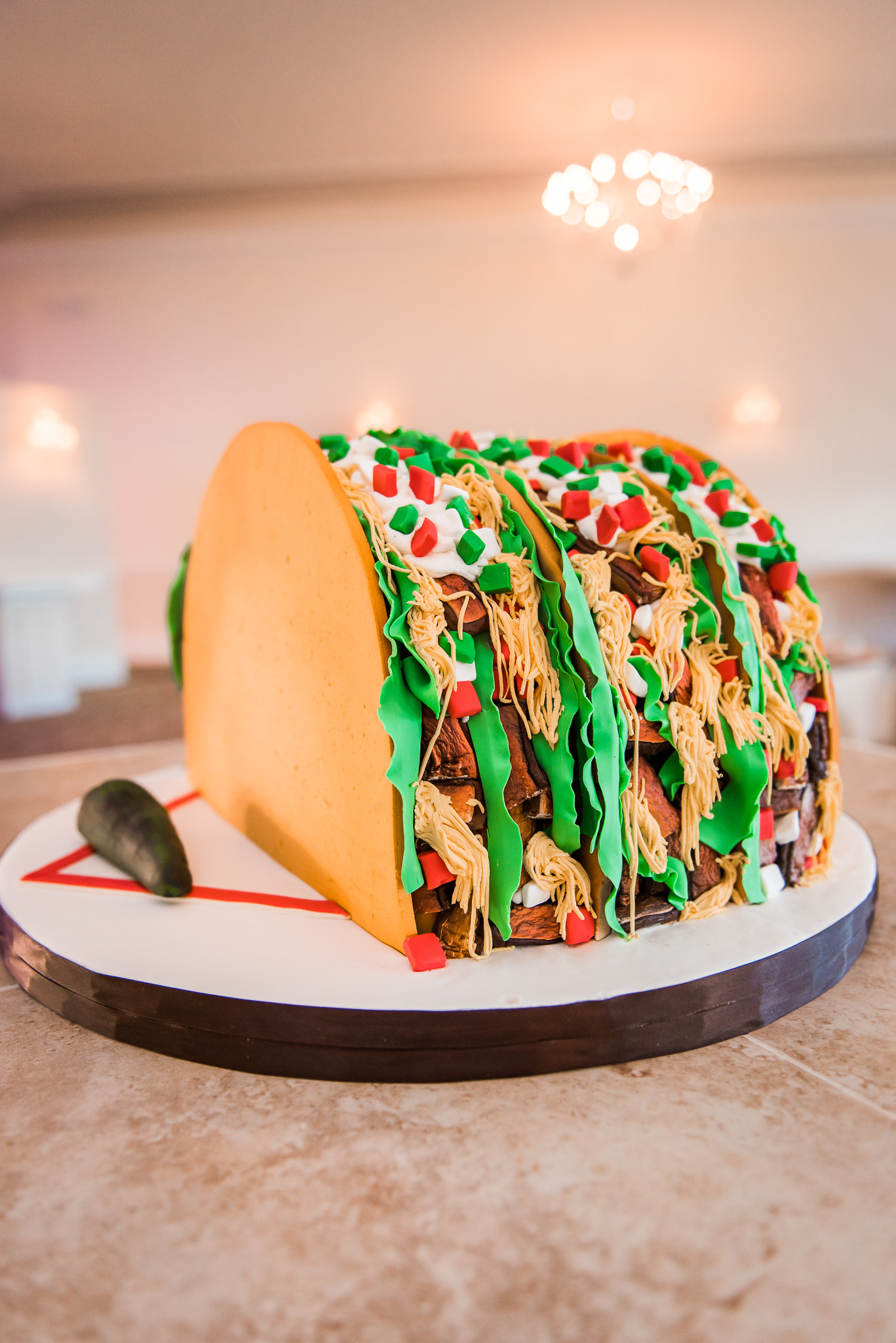 Taco Shaped Cake | Cakes by Gina