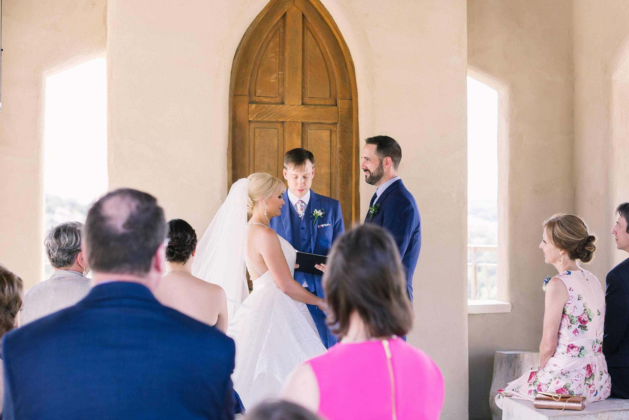 Open air wedding ceremony at Chapel Dulcinea | Intimate Weddings and Elopements