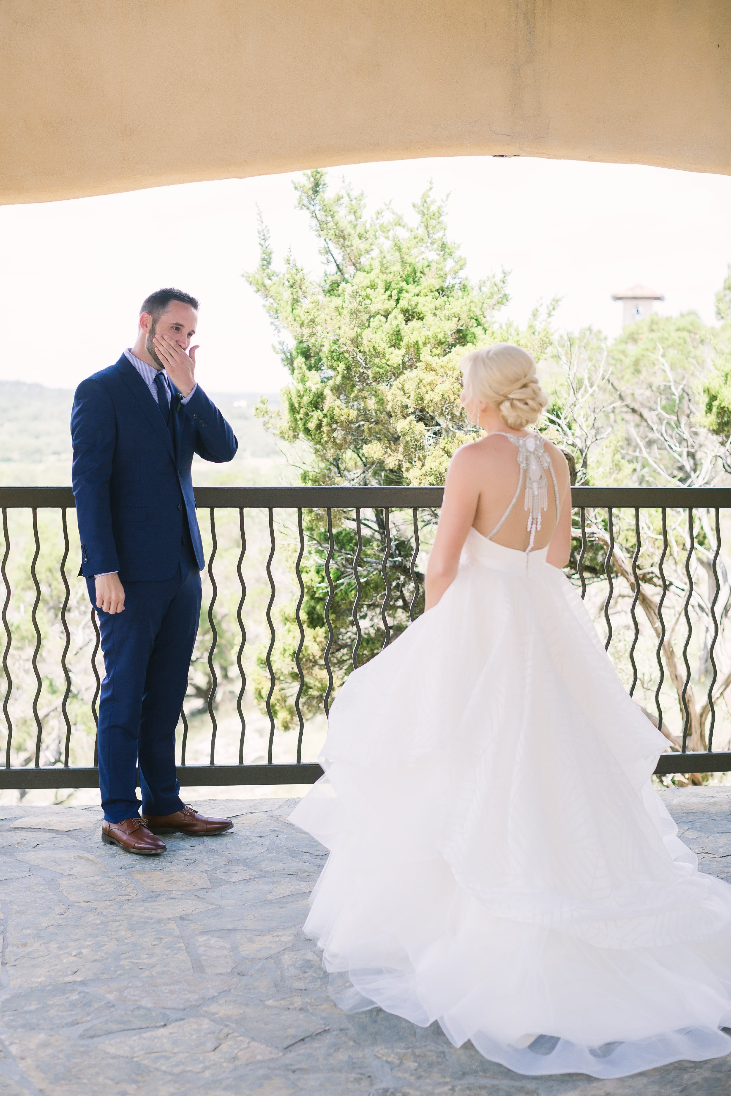 First look at the top of a hill | Austin Wedding Planners