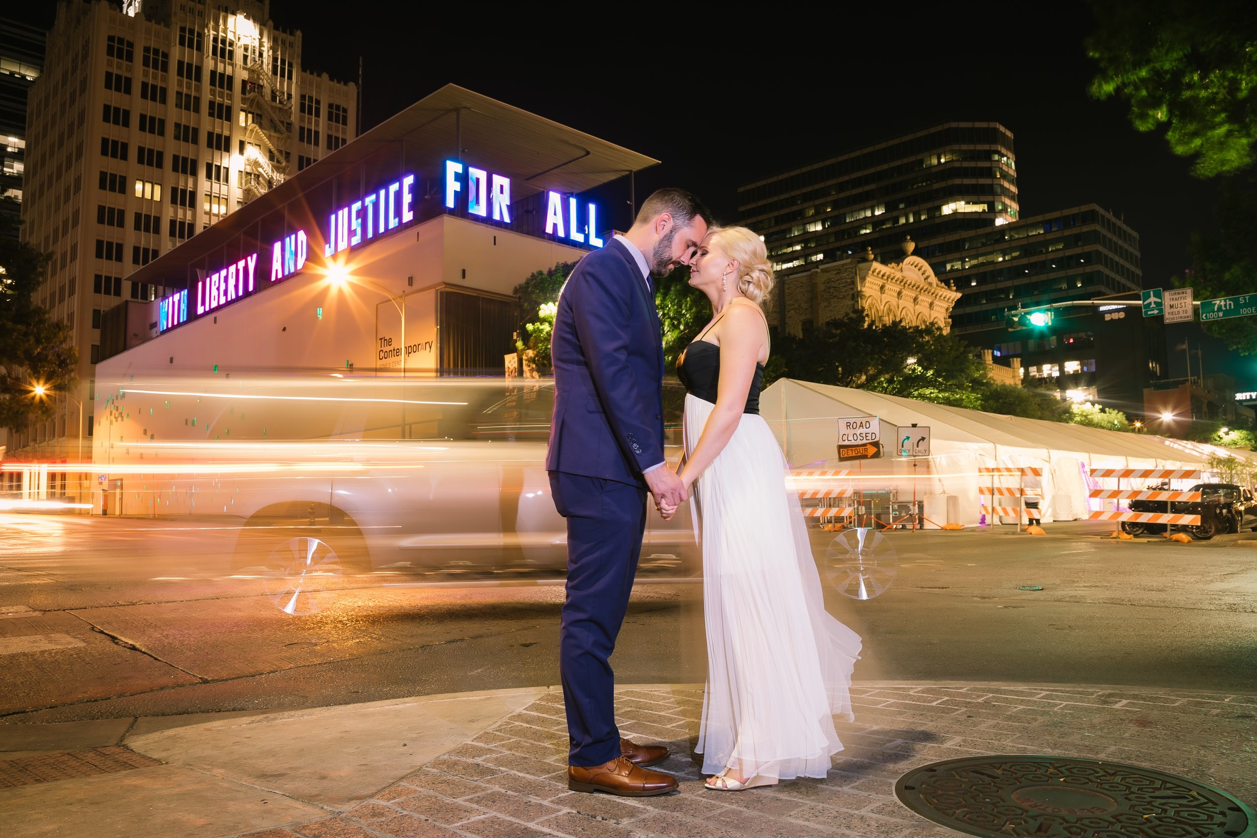Downtown Couples' portraits | Austin, TX | Unique wedding photos