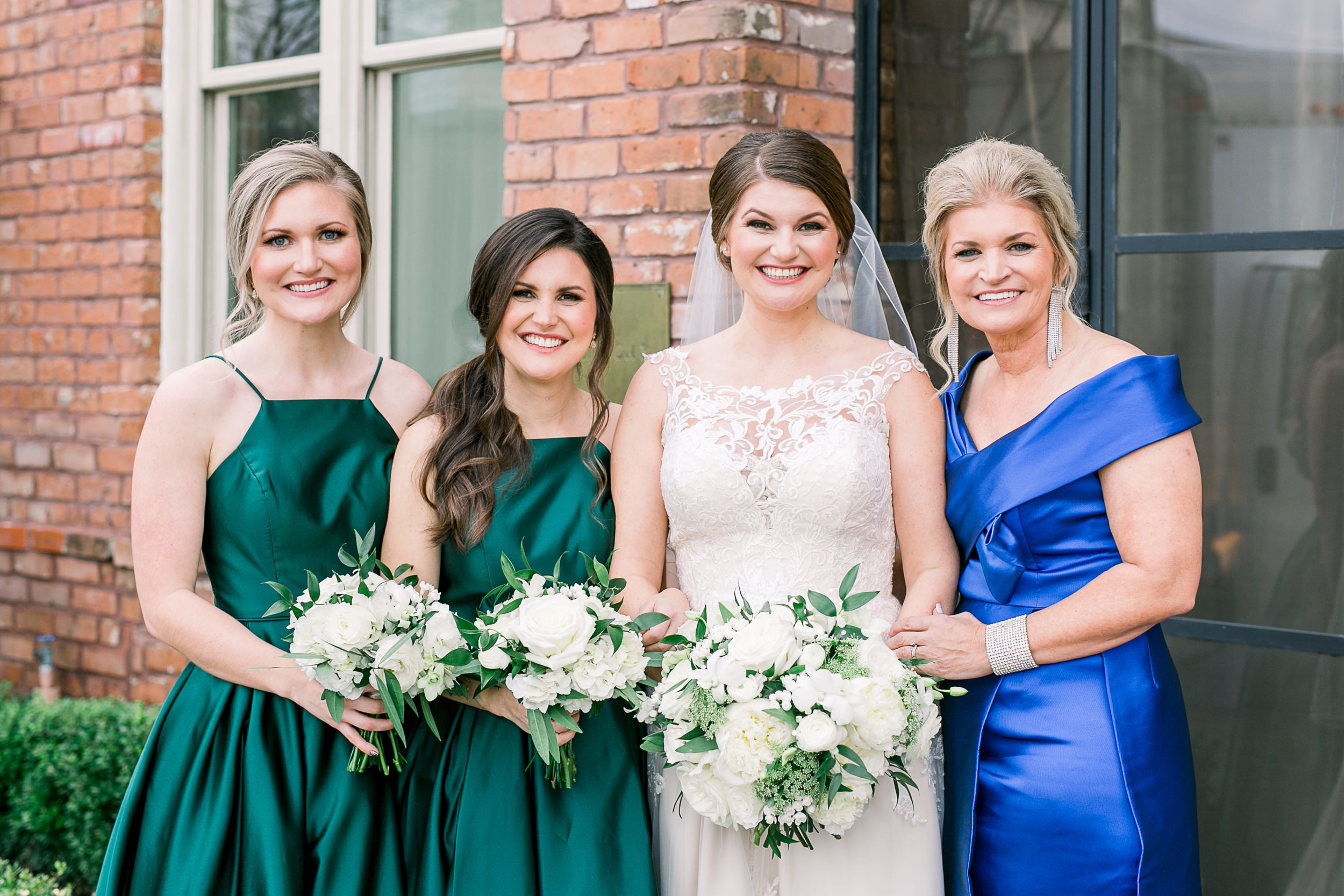 Emerald Bridesmaids dresses | Elegant wedding in Houston